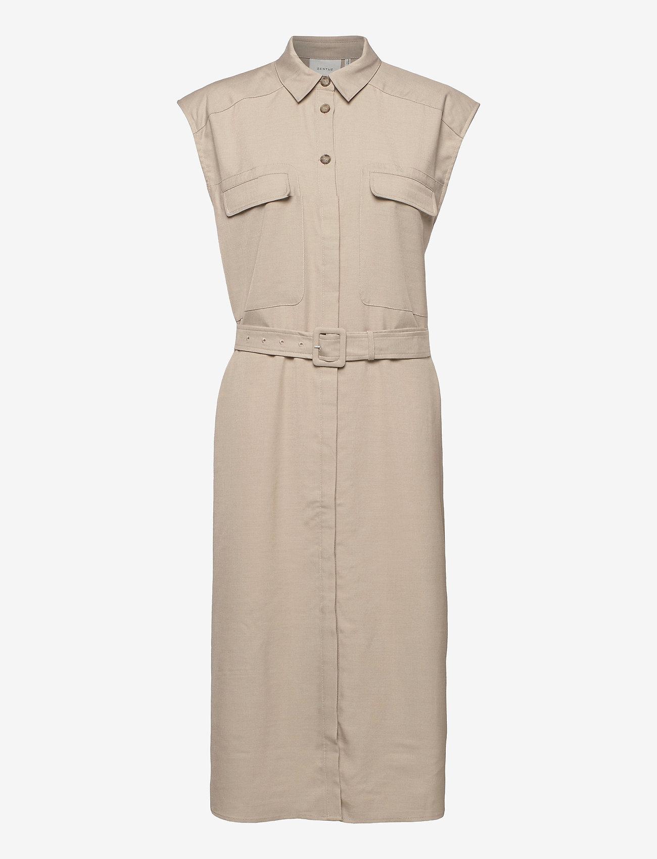 Gestuz - LeejaGZ sl shirt dress - sommerkjoler - pure cashmere - 1