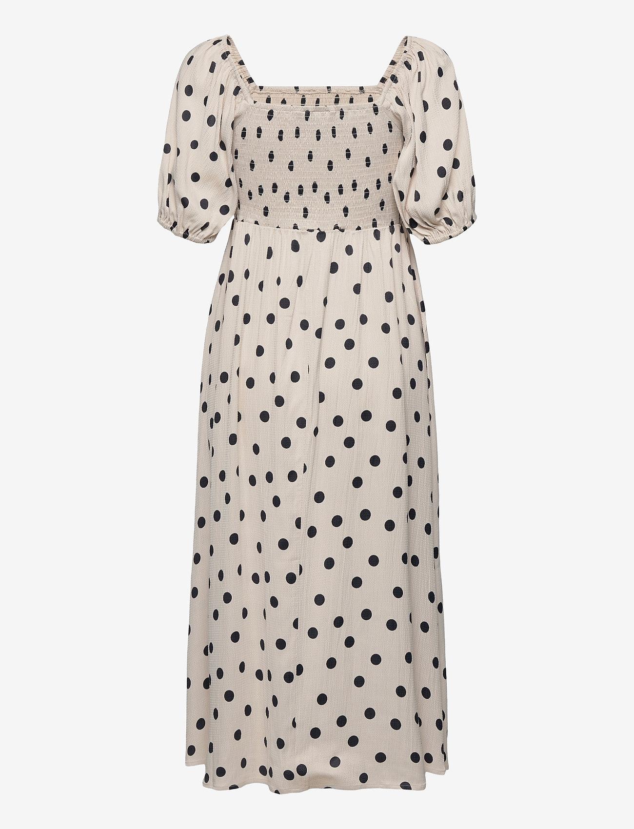Gestuz - DoraGZ short dress - sommerkjoler - off white w black dot - 1