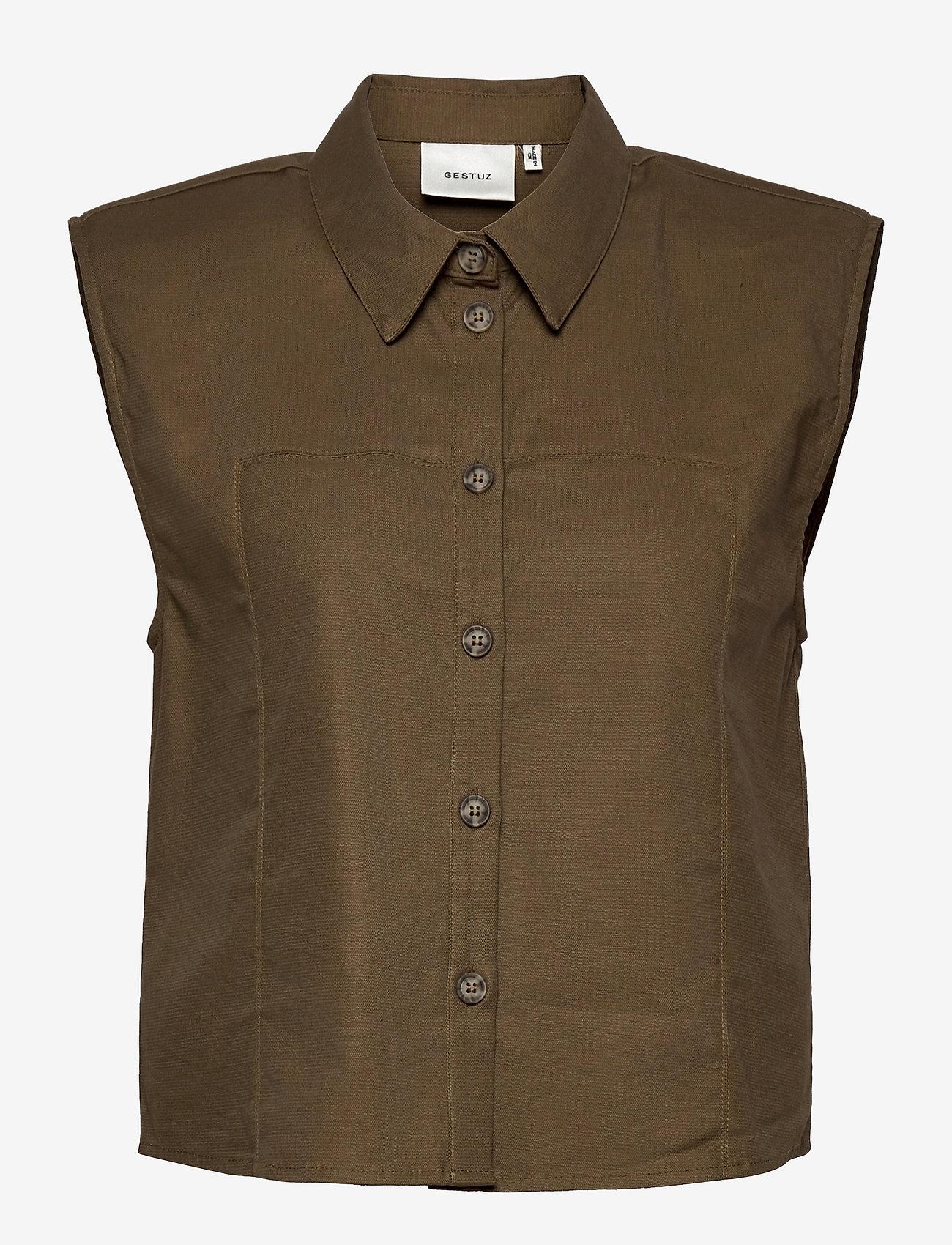 Gestuz - AssaGZ sl shirt - puffer vests - capers - 0