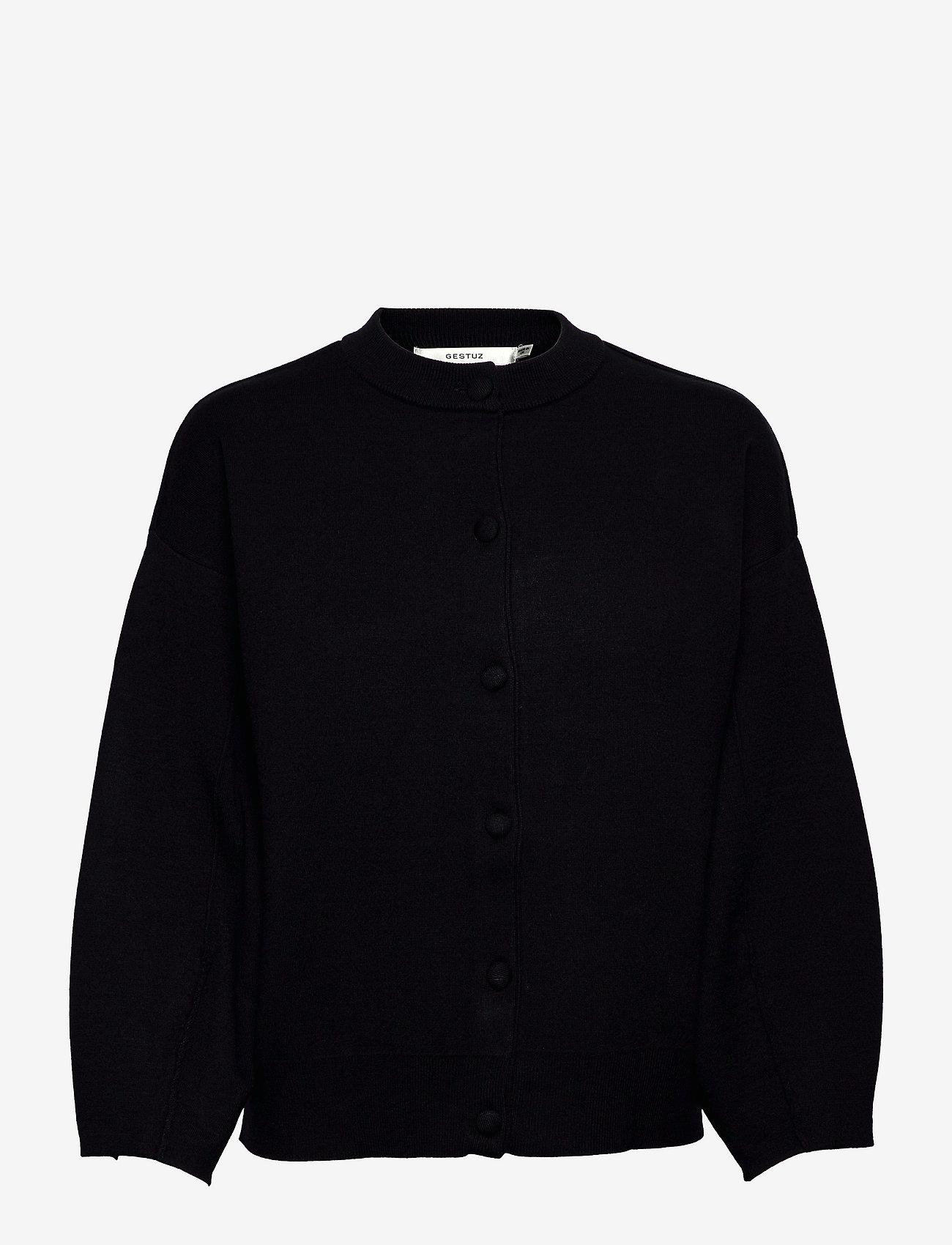 Gestuz - TalliGZ box cardigan - cardigans - black - 1