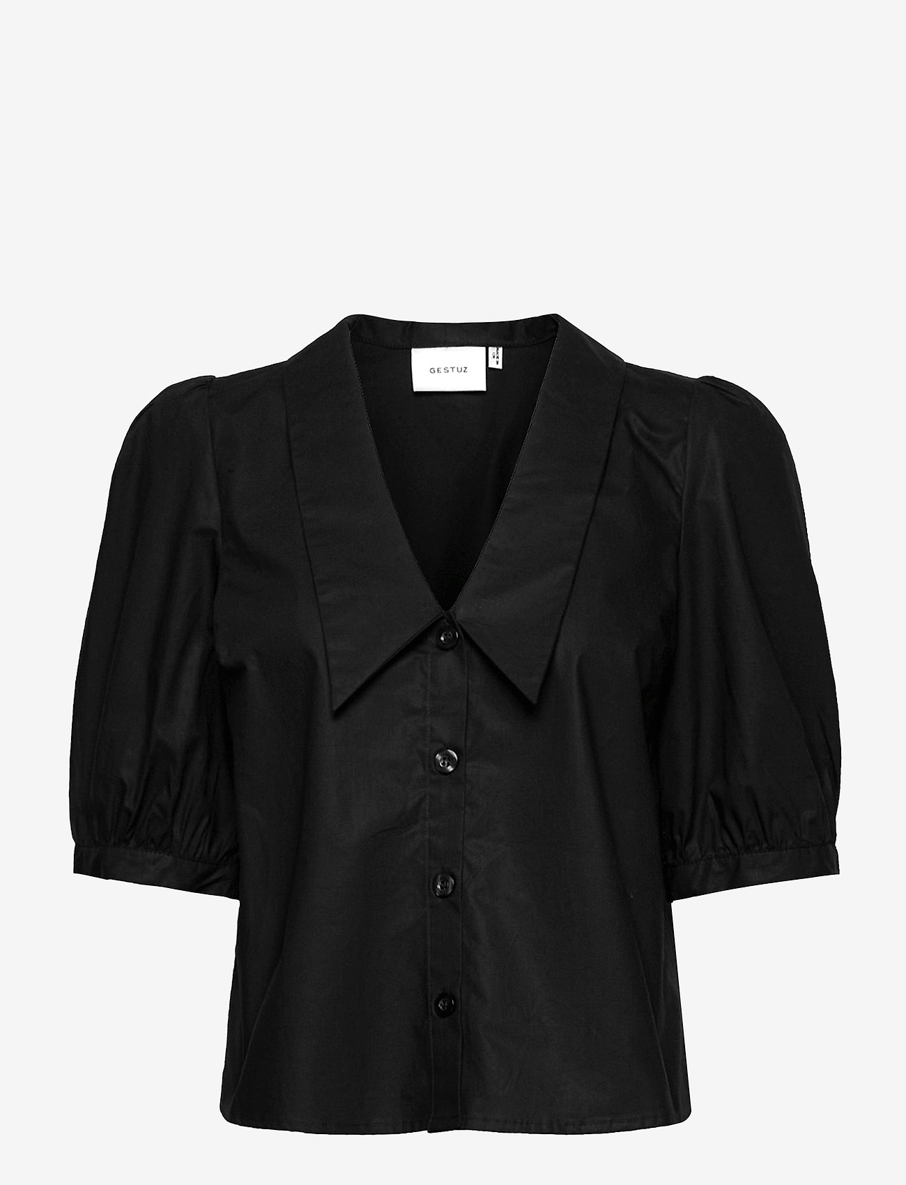 Gestuz - BrietGZ ss shirt - kortærmede bluser - black - 0