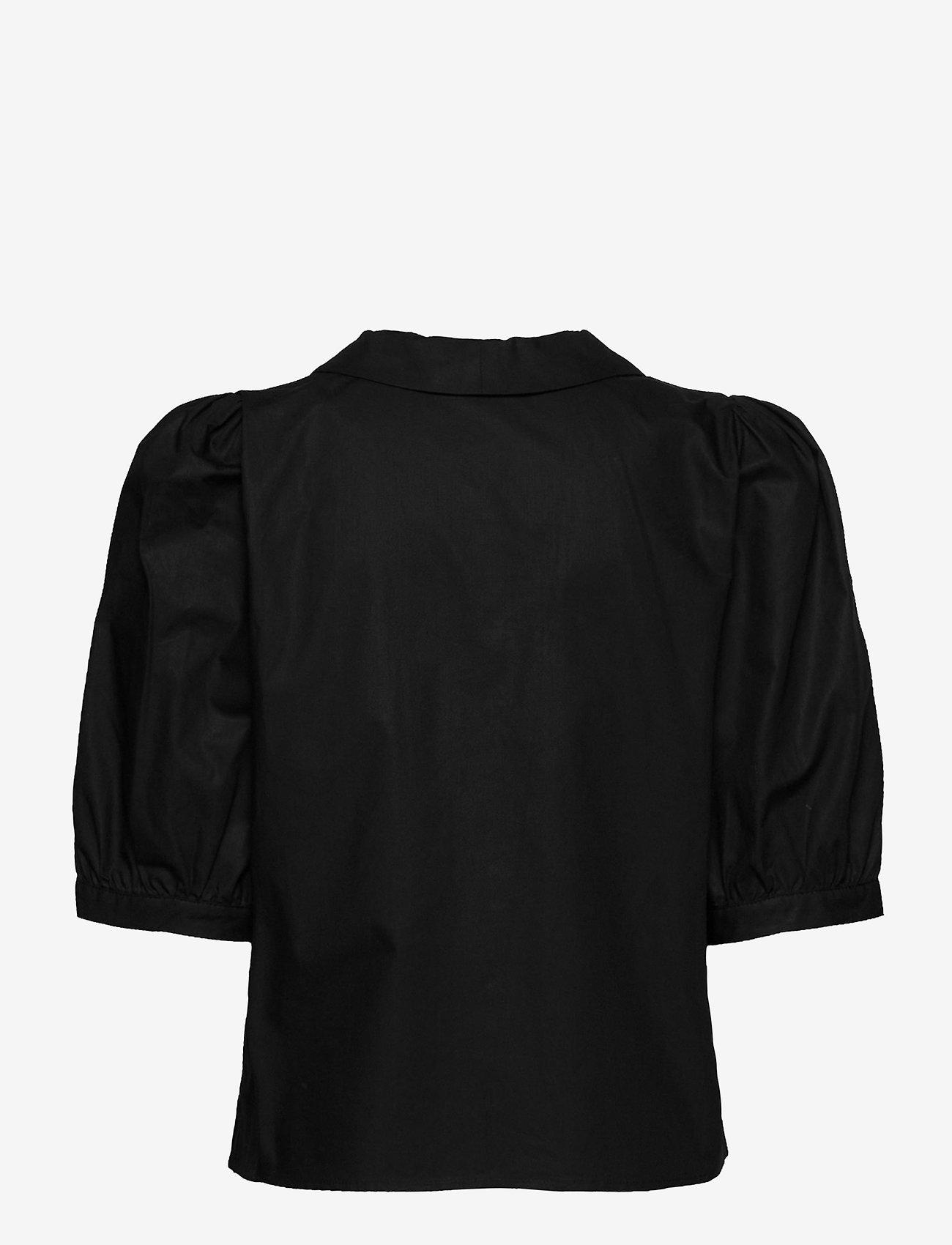 Gestuz - BrietGZ ss shirt - kortærmede bluser - black - 1