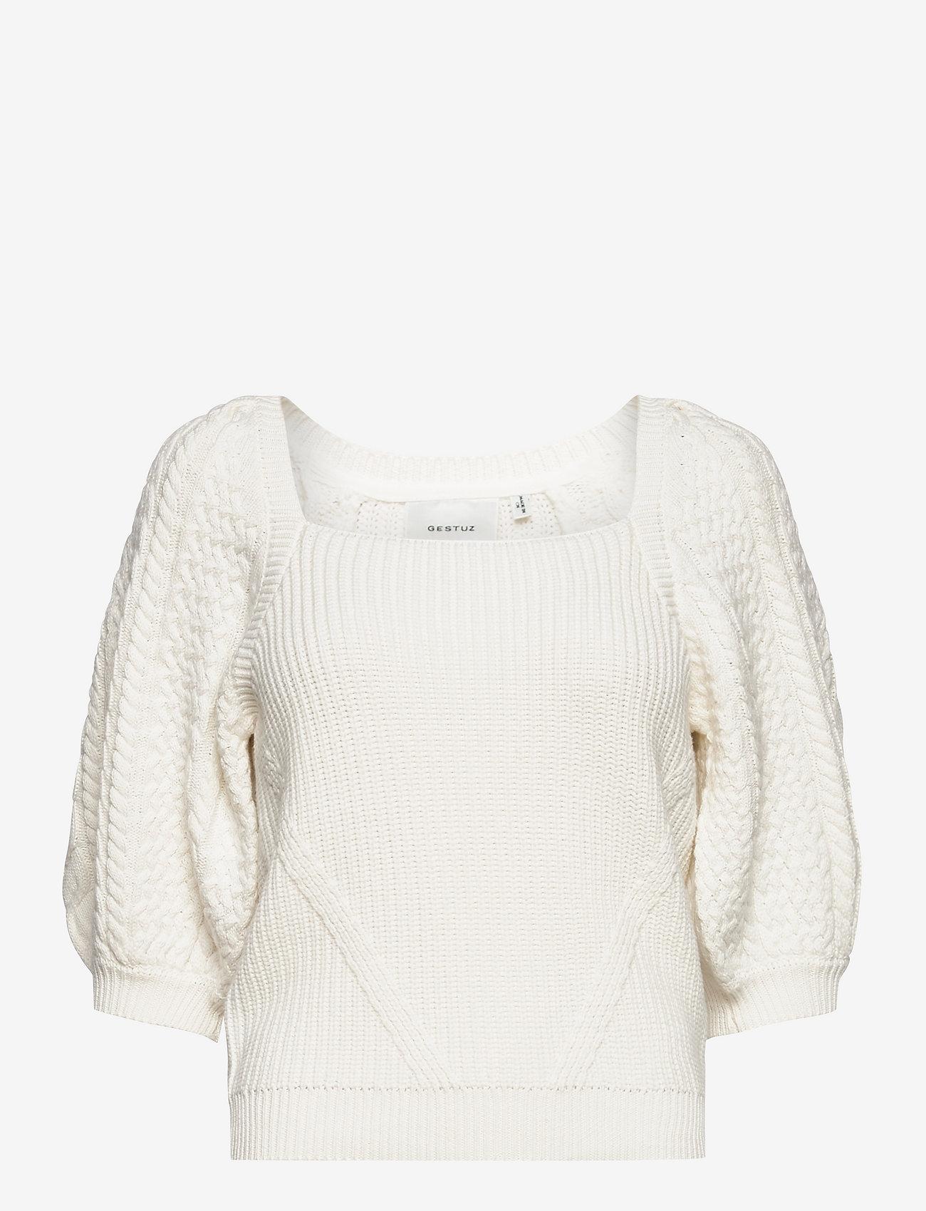 Gestuz - ViolaGZ ss pullover - trøjer - egret - 0