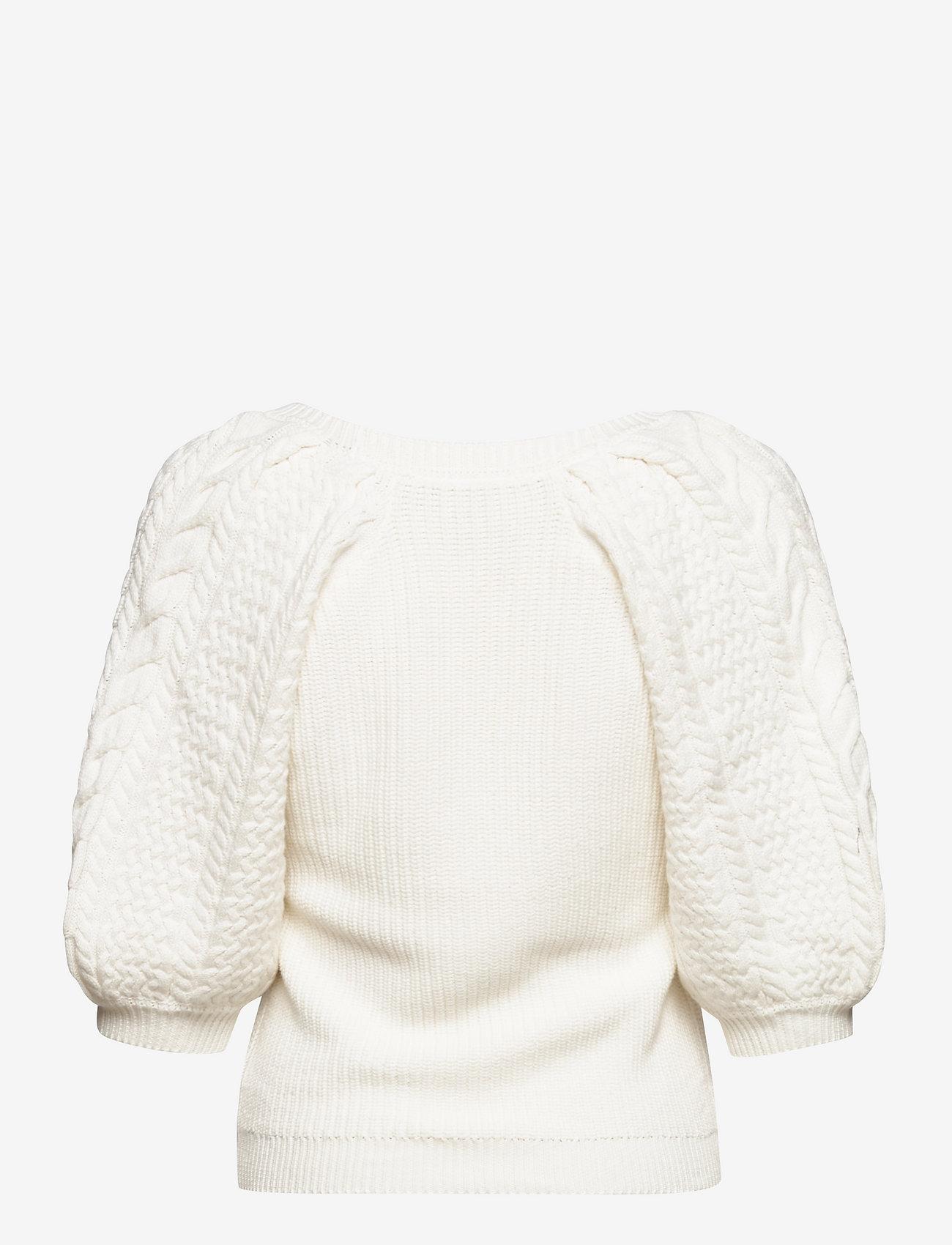 Gestuz - ViolaGZ ss pullover - trøjer - egret - 1
