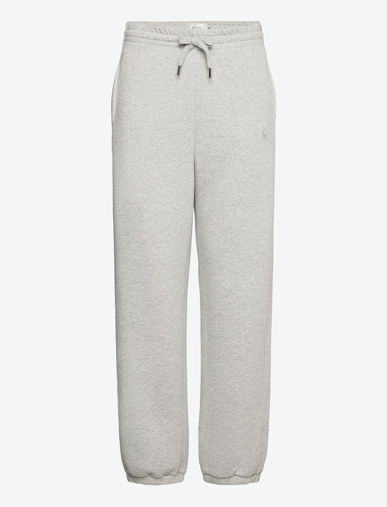 Gestuz - RubiGZ HW pants NOOS - sweatpants - grey melange - 0