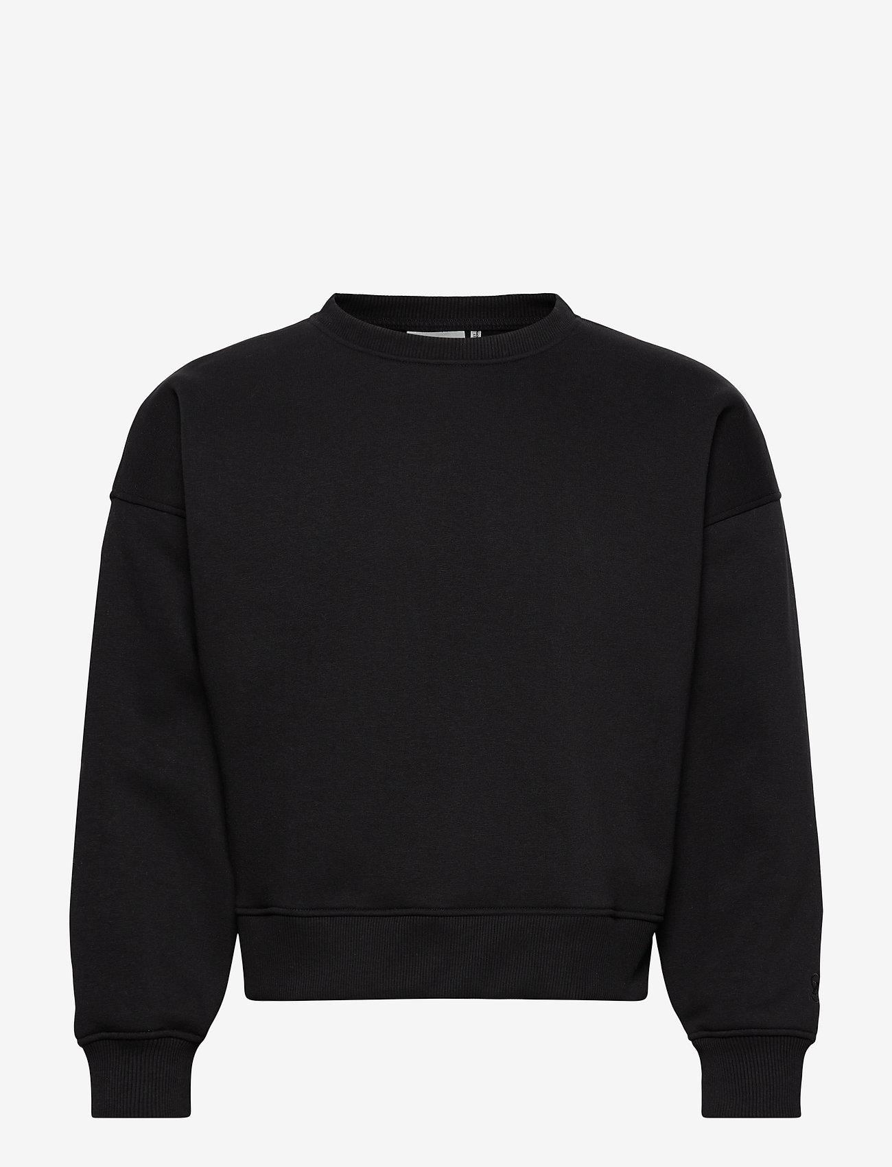 Gestuz - RubiGZ sweatshirt NOOS - sweatshirts & hættetrøjer - black - 0