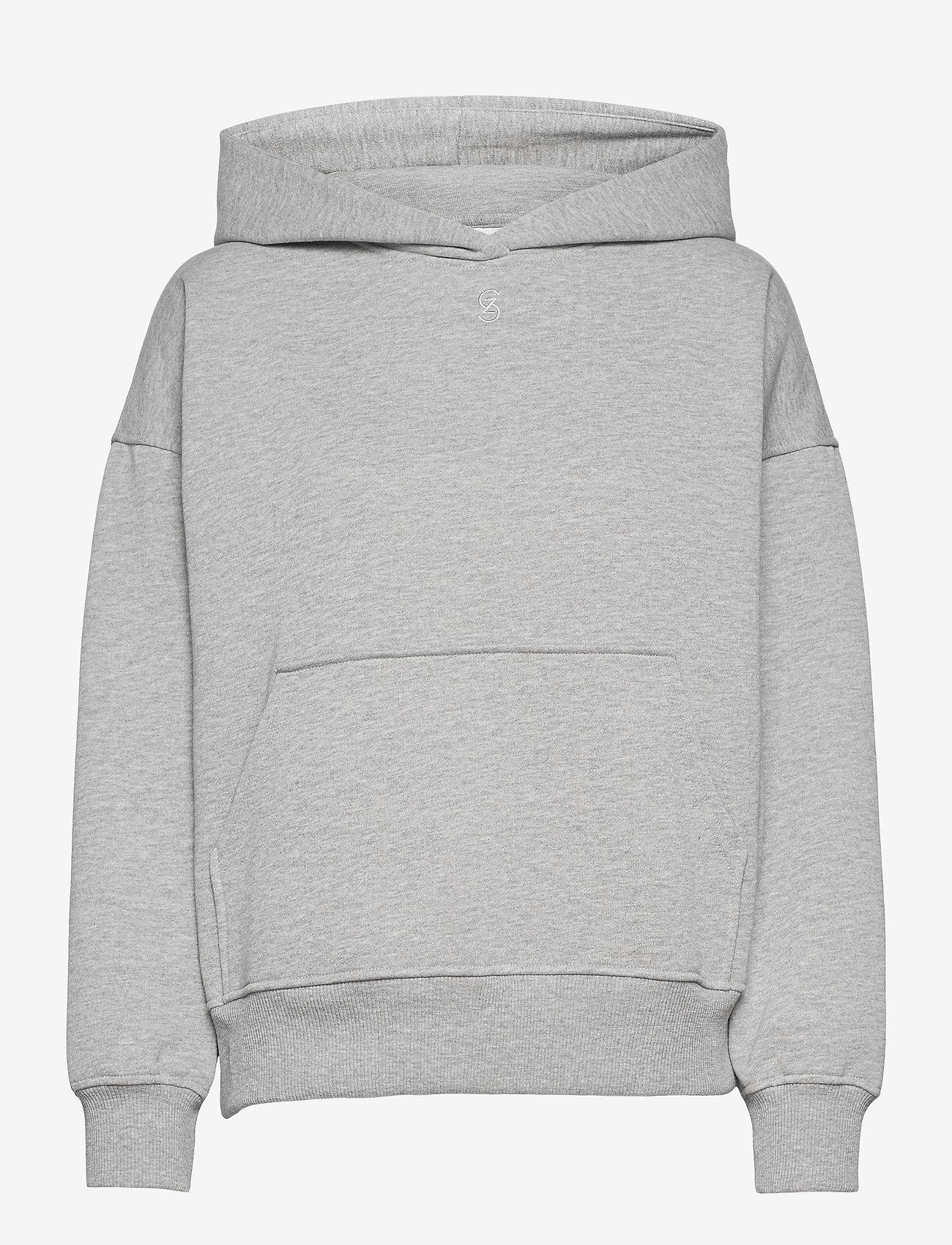Gestuz - RubiGZ hoodie NOOS - sweatshirts & hættetrøjer - light grey melange - 0