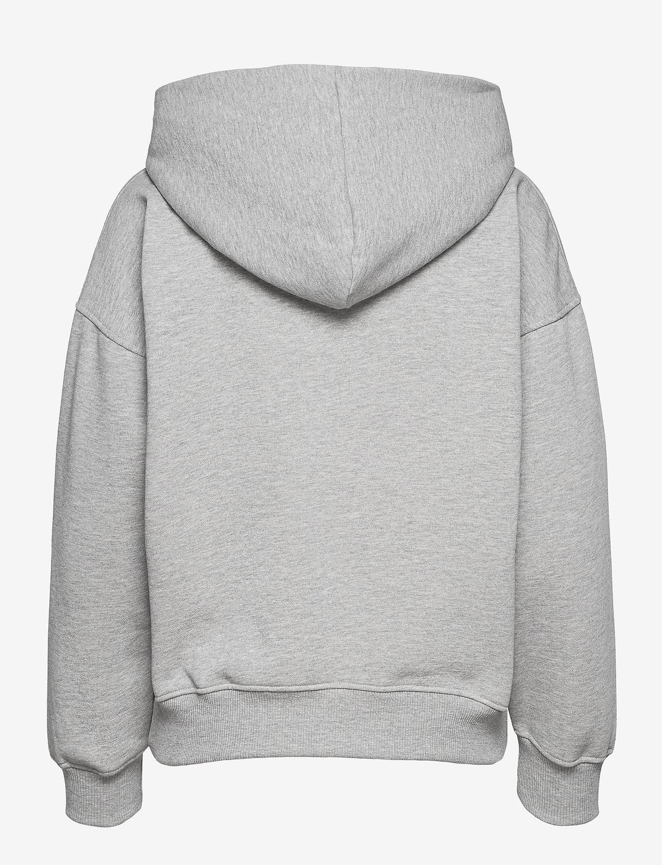 Gestuz - RubiGZ hoodie NOOS - sweatshirts & hættetrøjer - light grey melange - 1