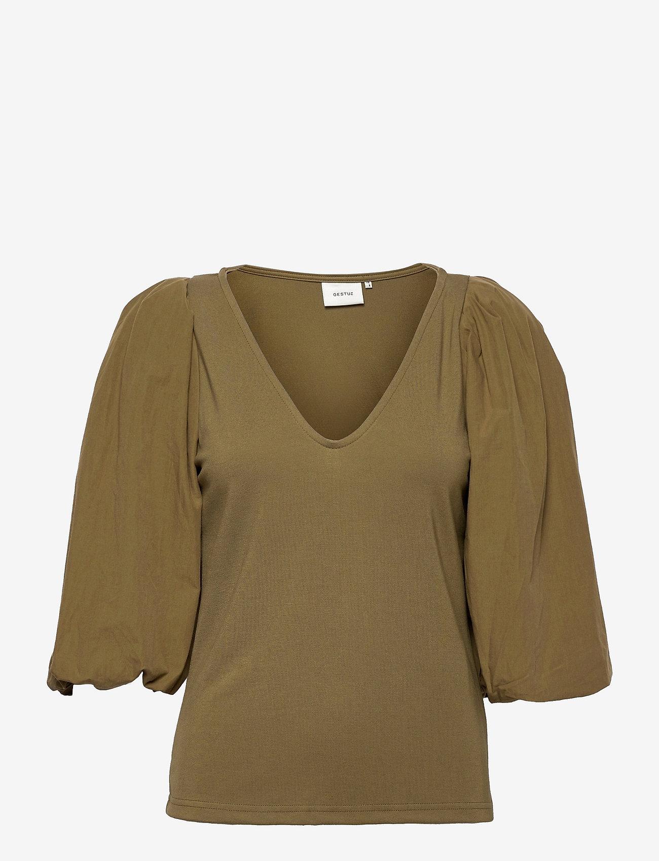Gestuz - NemaGZ blouse - langærmede bluser - capers - 0