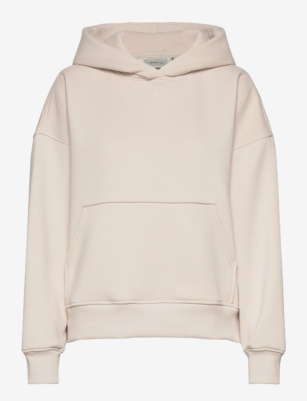 Gestuz - RubiGZ hoodie - sweatshirts & hættetrøjer - moonbeam - 1