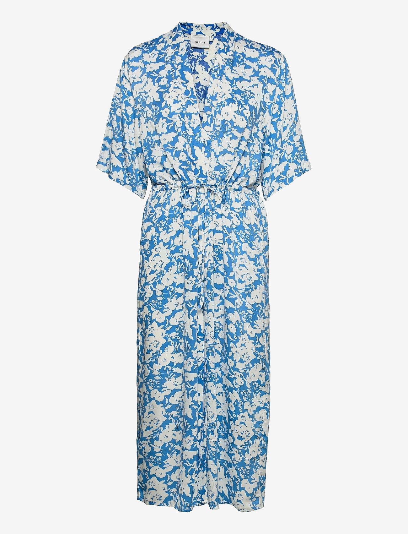 Gestuz - LaiaGZ kimono - kimonoer - mini blue flowe aop - 0
