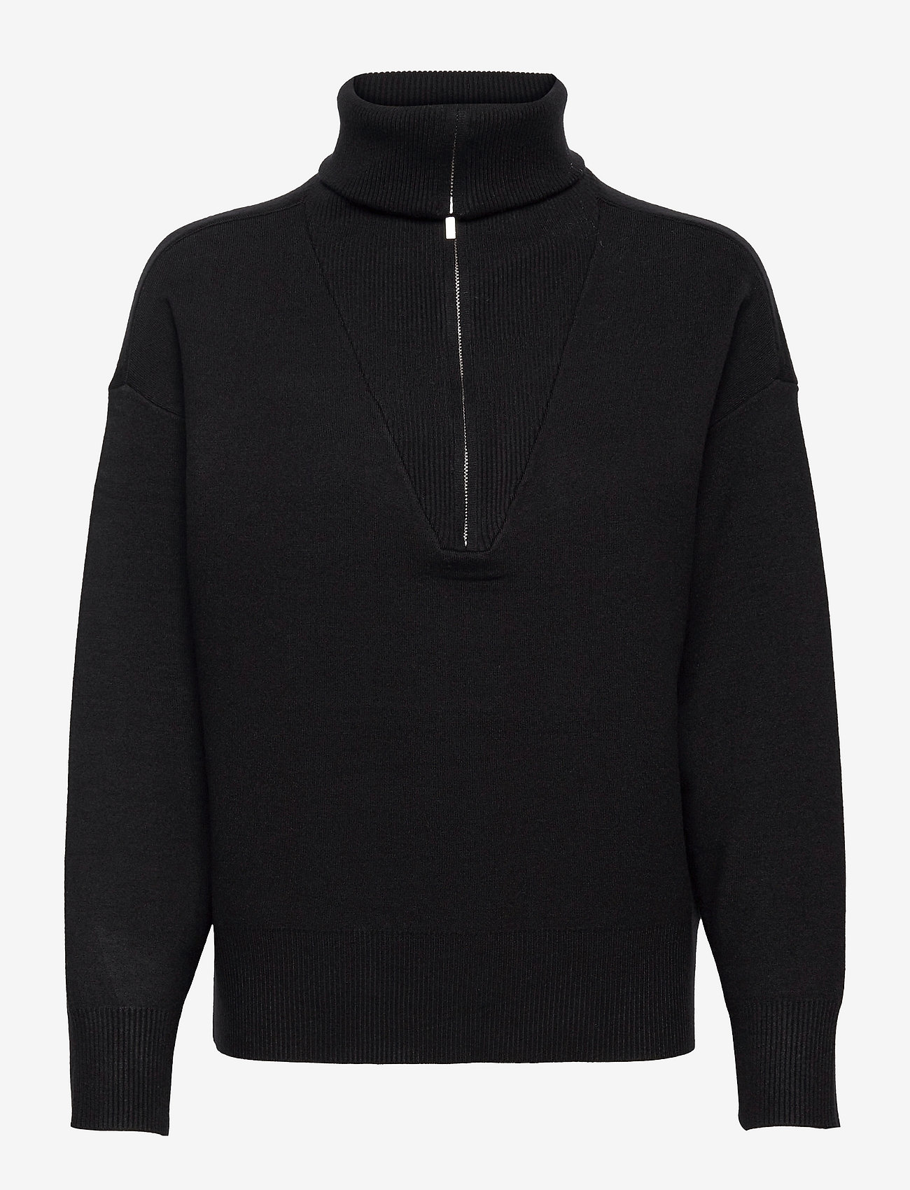 Gestuz - TalliGZ zipper pullover - trøjer - black - 0