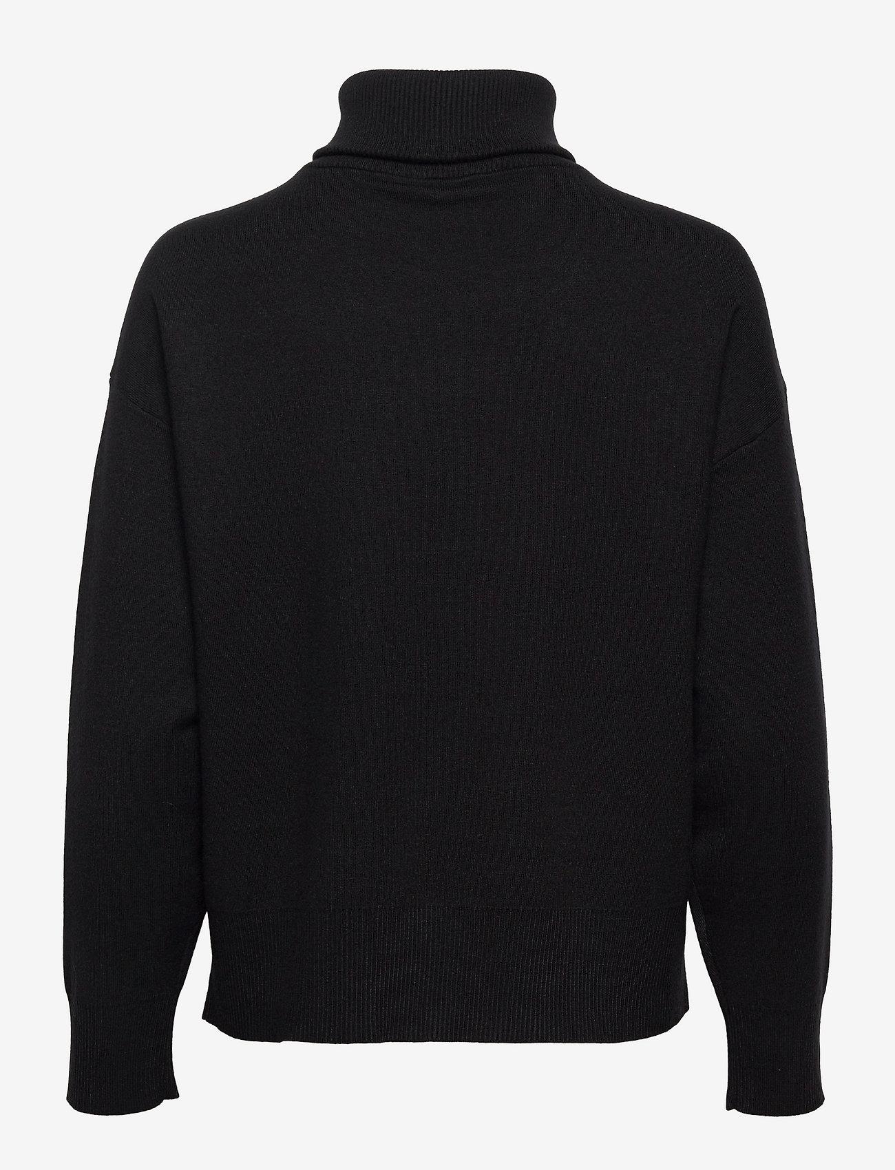 Gestuz - TalliGZ zipper pullover - trøjer - black - 1