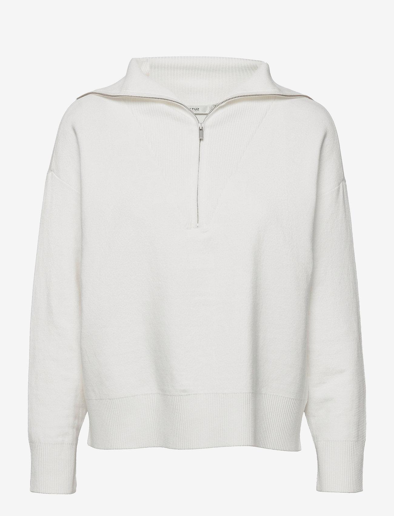 Gestuz - TalliGZ zipper pullover - trøjer - egret - 0