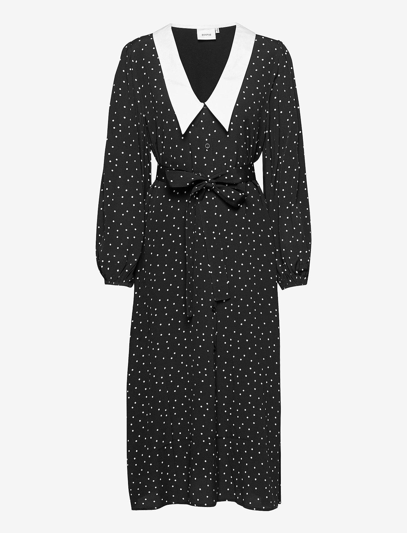 Gestuz - KatlaGZ dress - hverdagskjoler - black w. white dot - 1