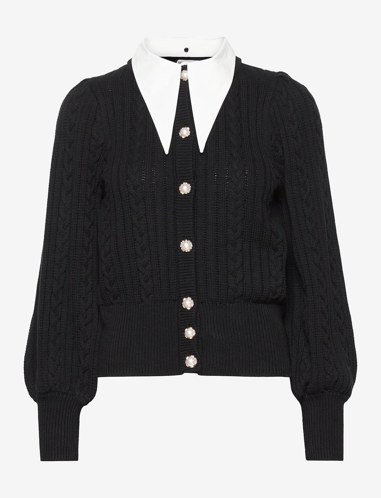 Gestuz - RawanGZ collar cardigan - black - 1