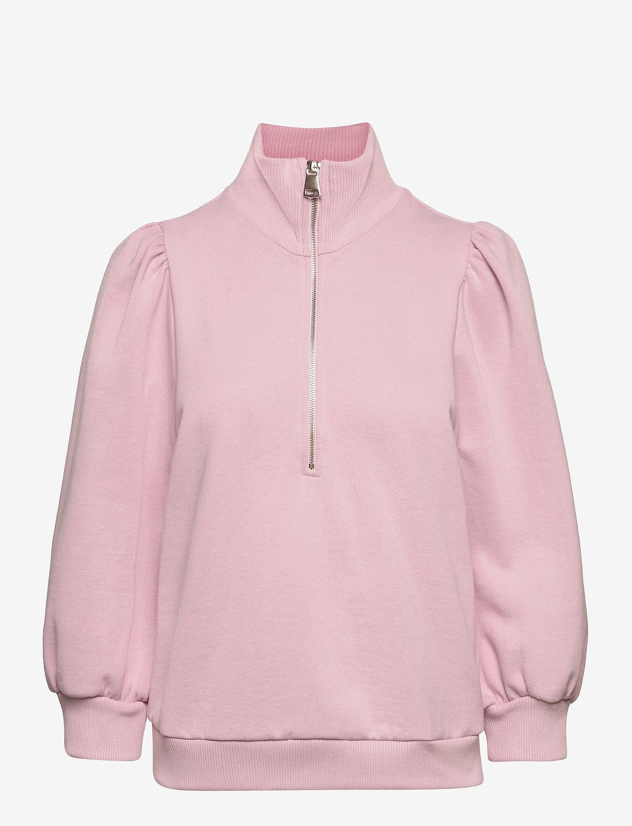 Gestuz - NankitaGZ ss zipper sweatshirt - sweatshirts & hoodies - fragrant lilac - 1
