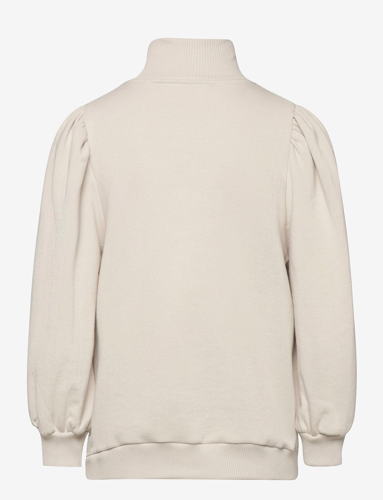 Gestuz - NankitaGZ ss zipper sweatshirt - sweatshirts & hoodies - moonbeam - 2