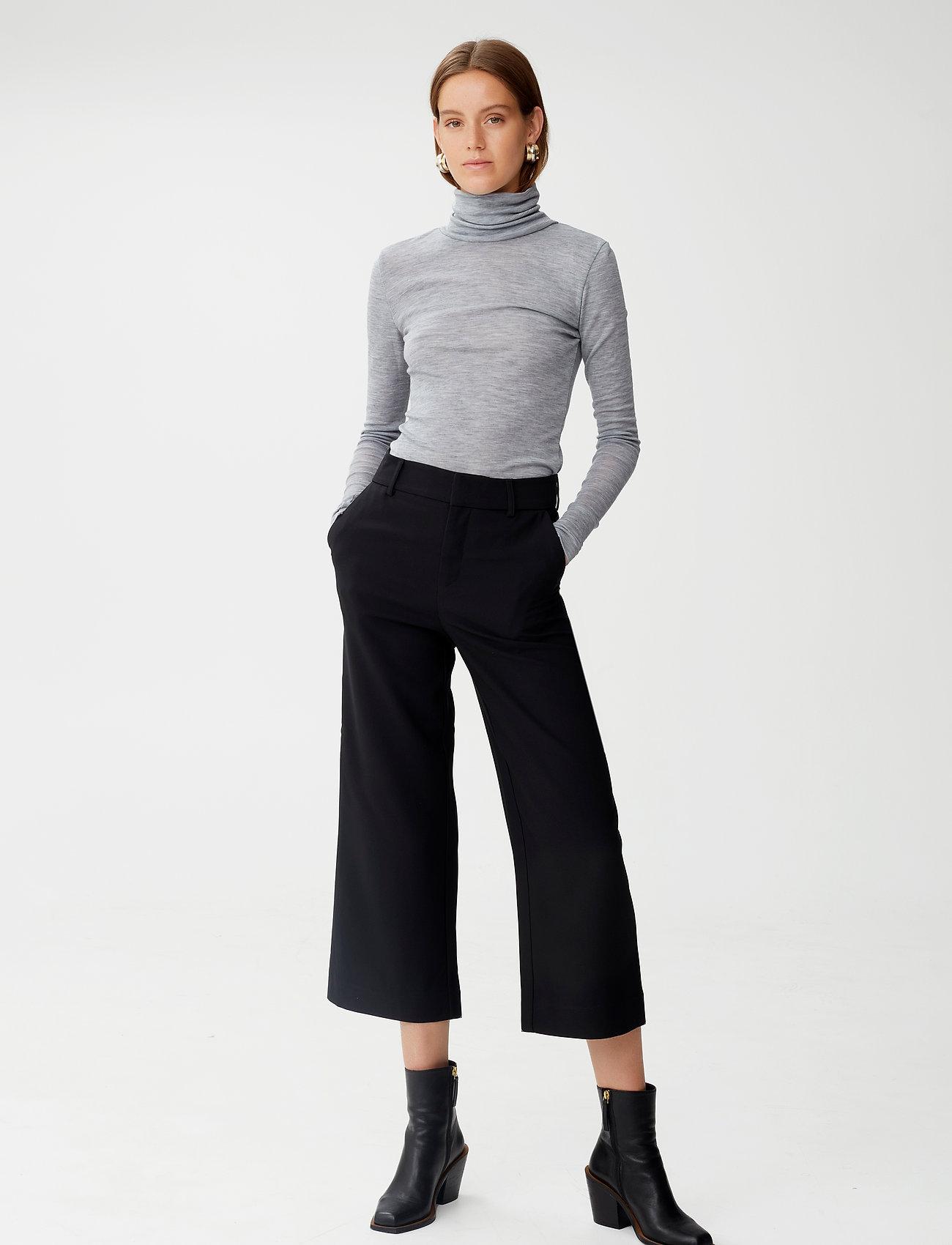 Gestuz - JoelleGZ culotte NOOS - bukser med brede ben - black - 0