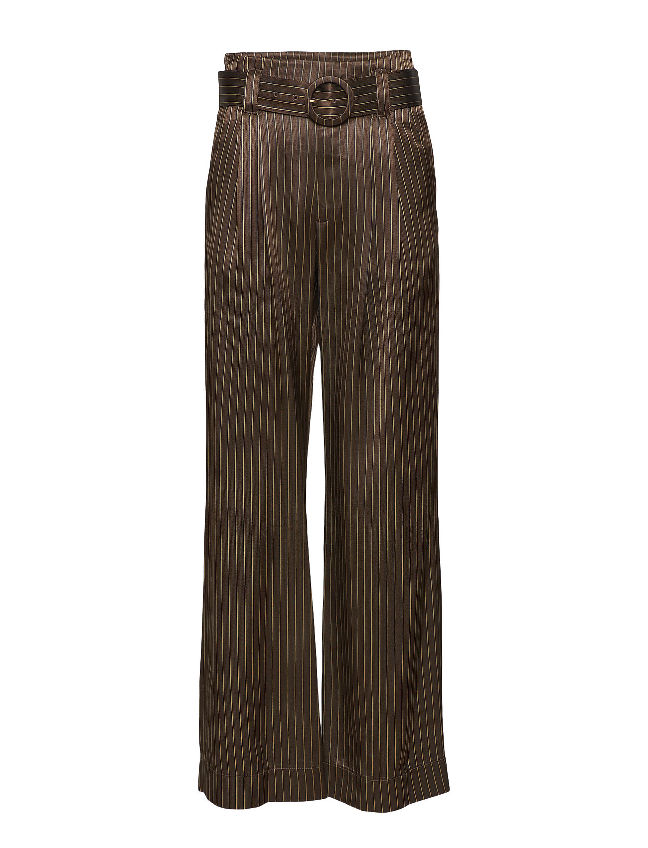 Gestuz Strika pants MA18 - BROWN STRIBE