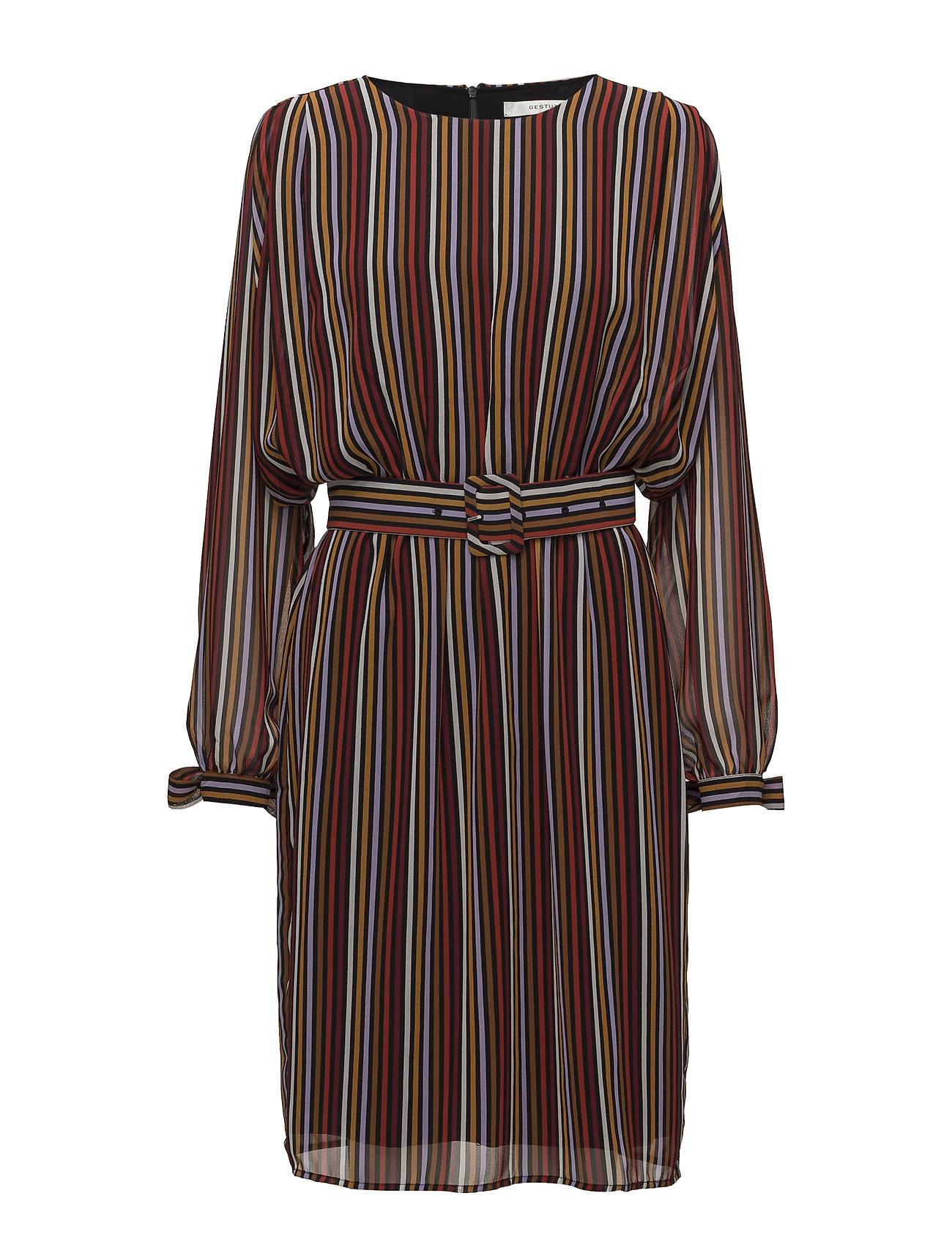 Gestuz Riba dress MA18 - RED STRIBE