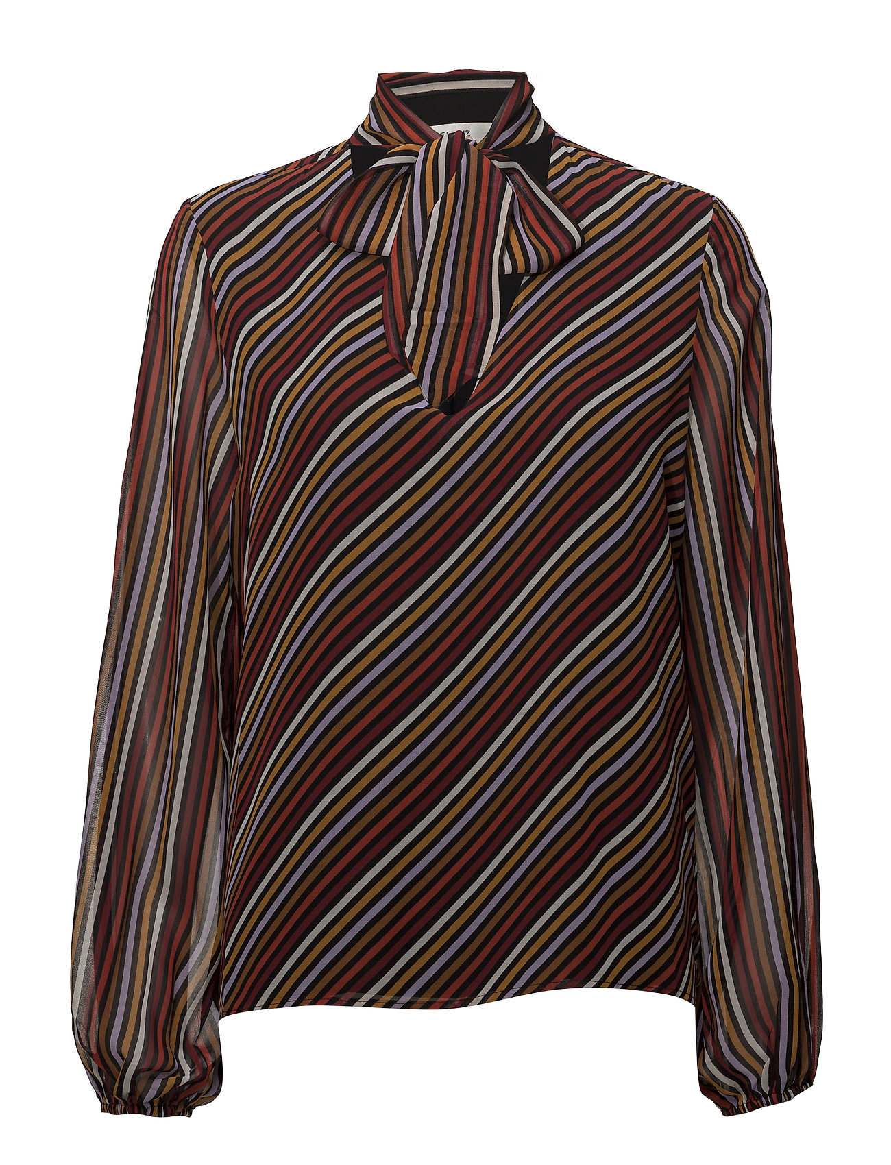 Gestuz Riba blouse MA18 - RED STRIBE