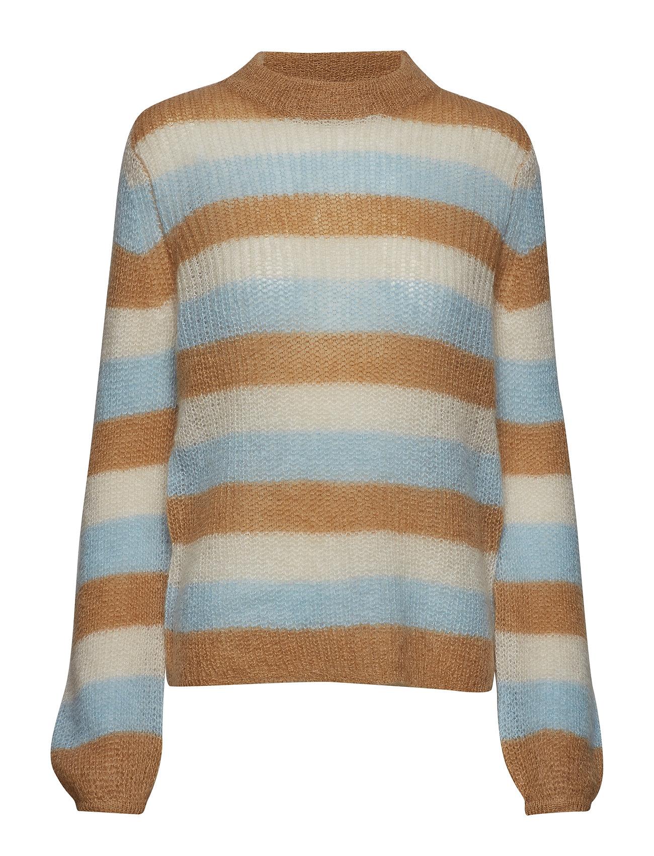 Gestuz Holly stripe pullover SO19 - TAN MULTI STRIPE