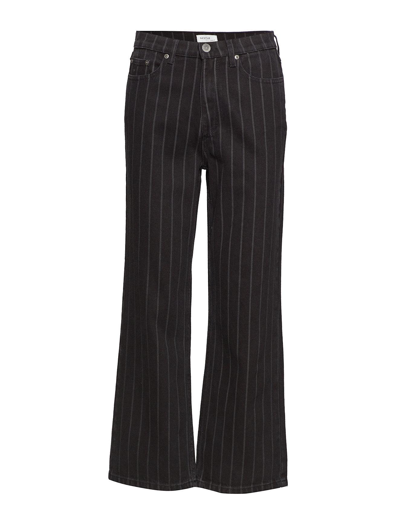 Gestuz Emma HW jeans SO19 - BLACK PINSTRIPE