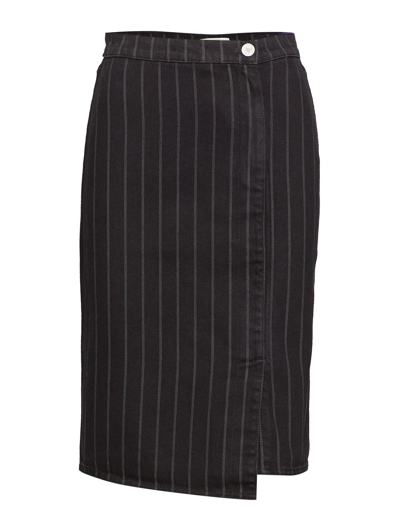 Gestuz Emma HW skirt SO19 - BLACK PINSTRIPE
