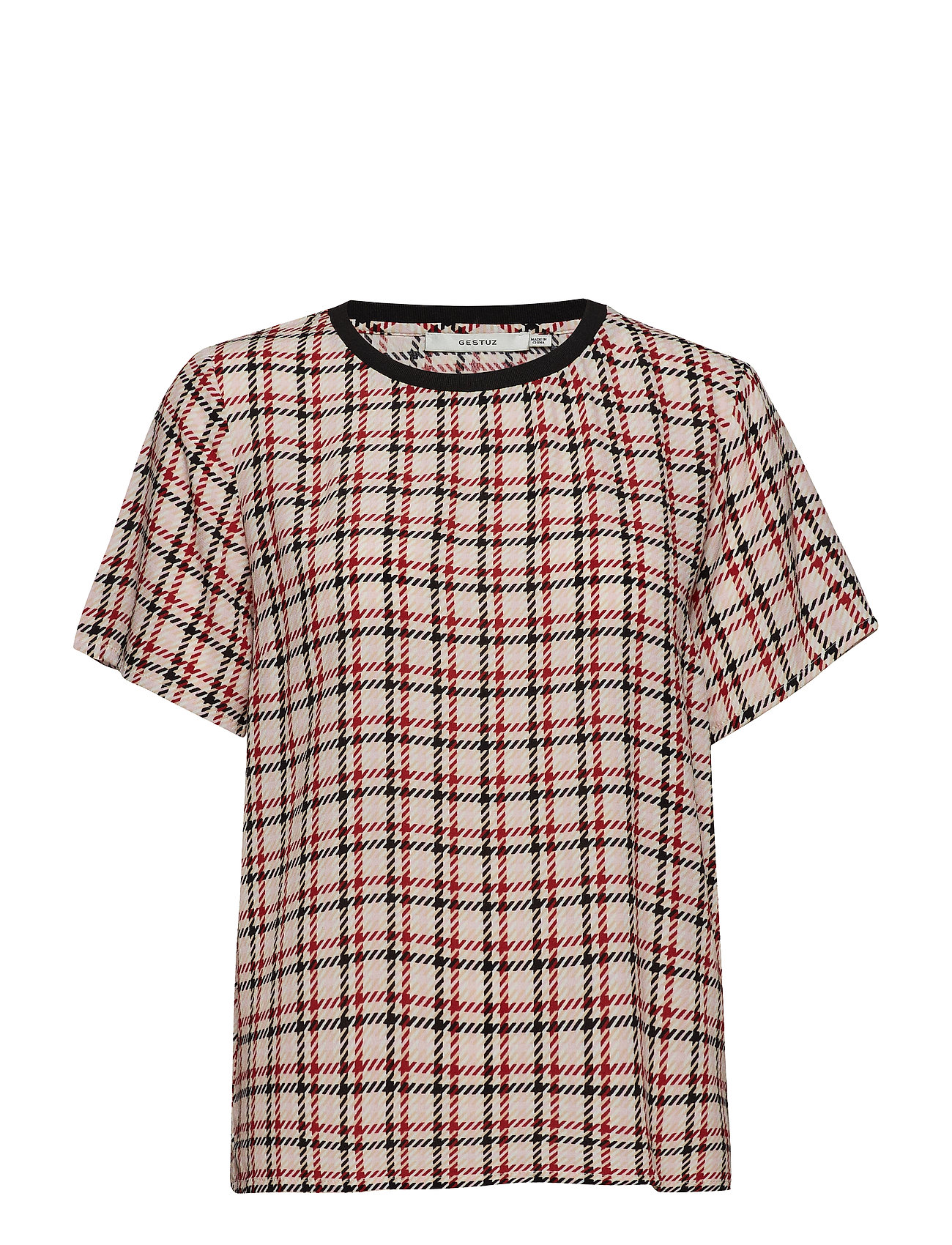 Gestuz Genova ss top SO19 - RED/PINK/WHITE CHECK