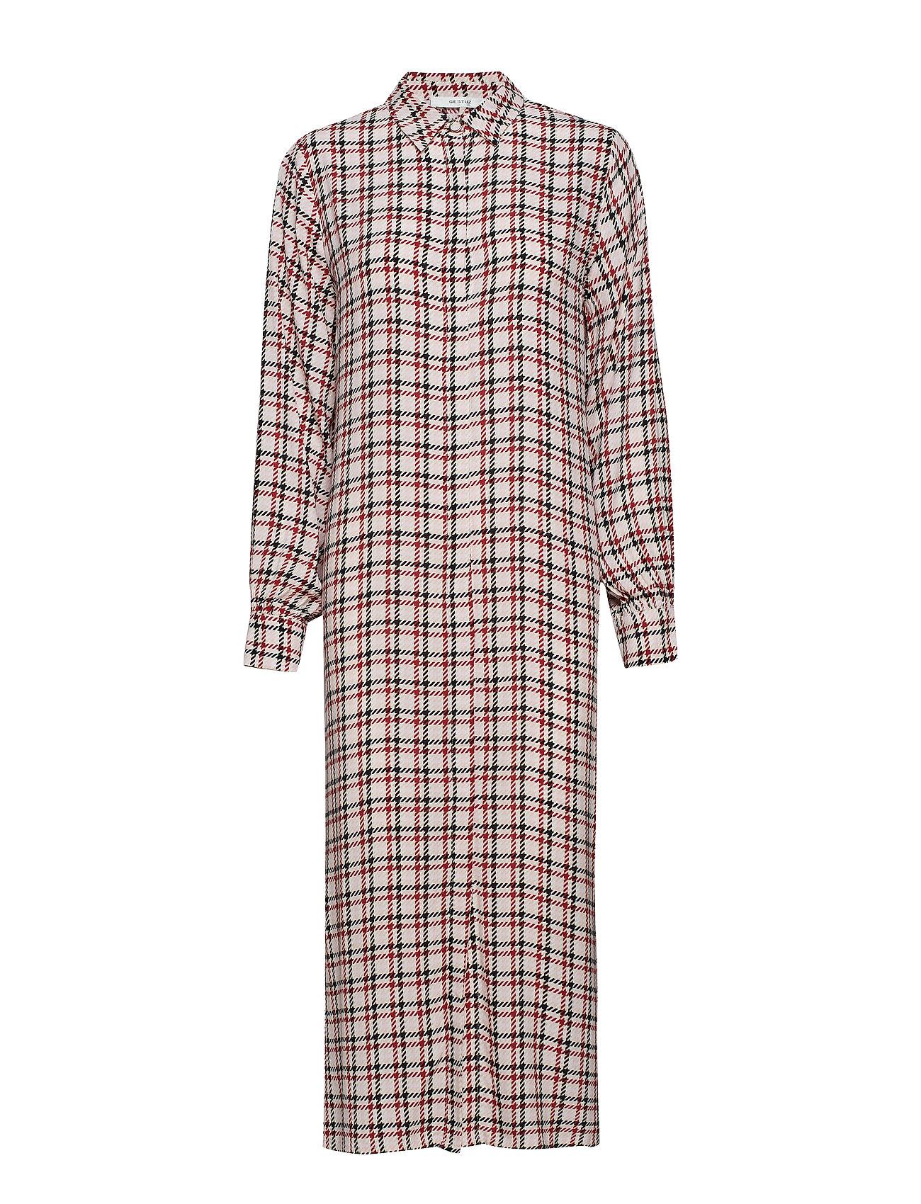 Gestuz Genova dress SO19 - RED/PINK/WHITE CHECK