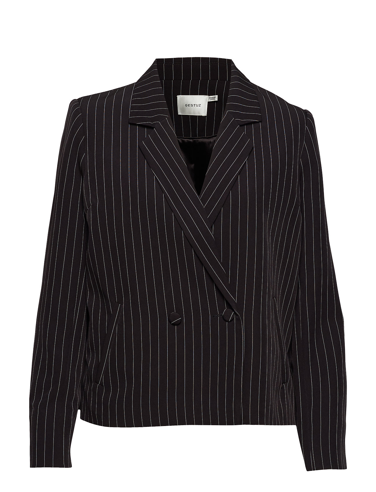 Gestuz Nala blazer SO19 - BLACK PINSTRIPE