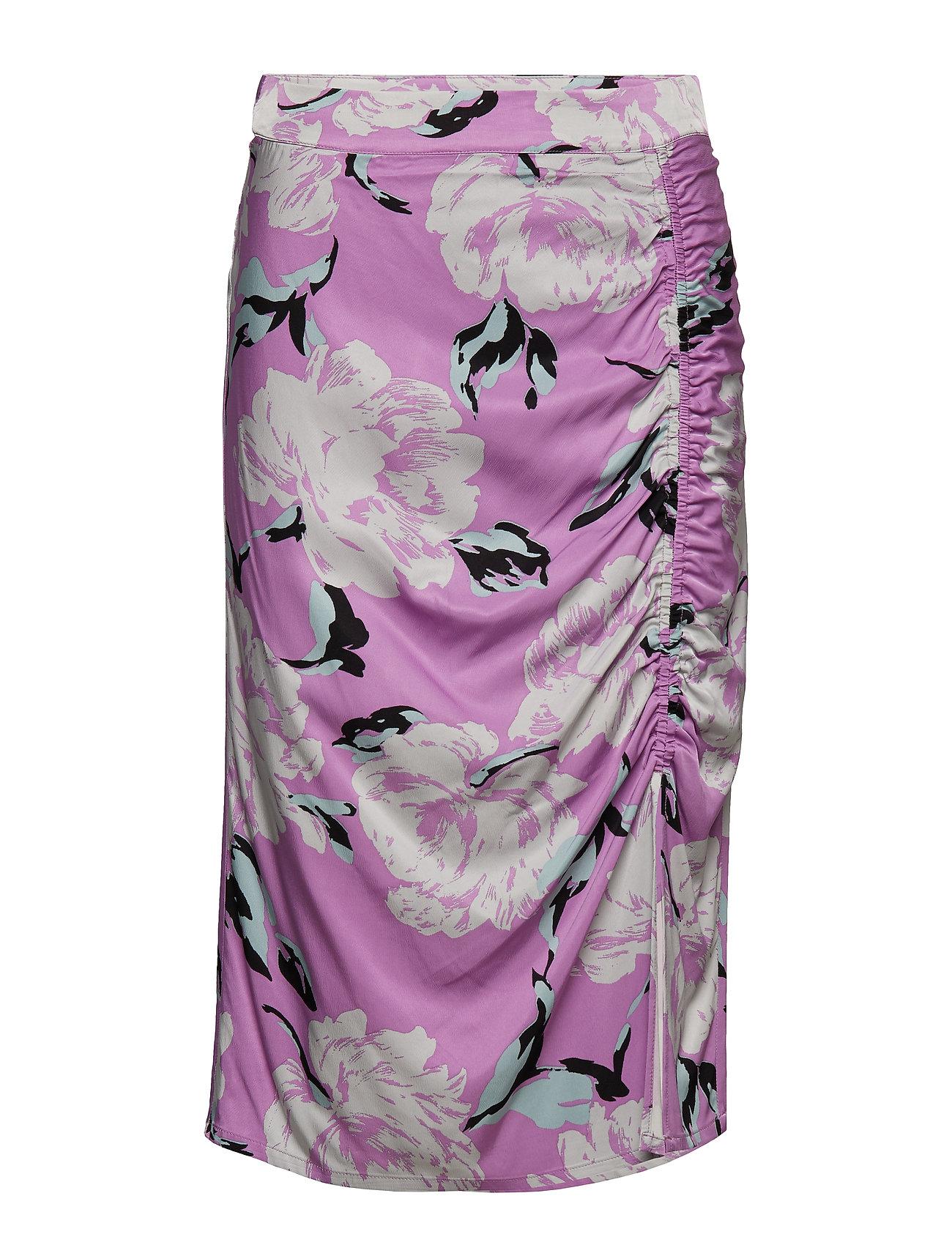 Gestuz Gwin skirt MS19 - PURPLE FLOWER