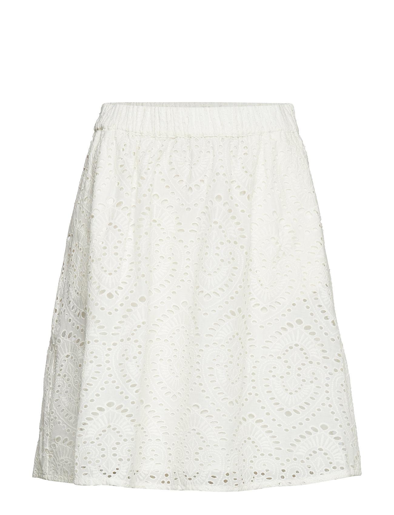 Casanagz Skirt Hs19 Knælang Nederdel Hvid GESTUZ