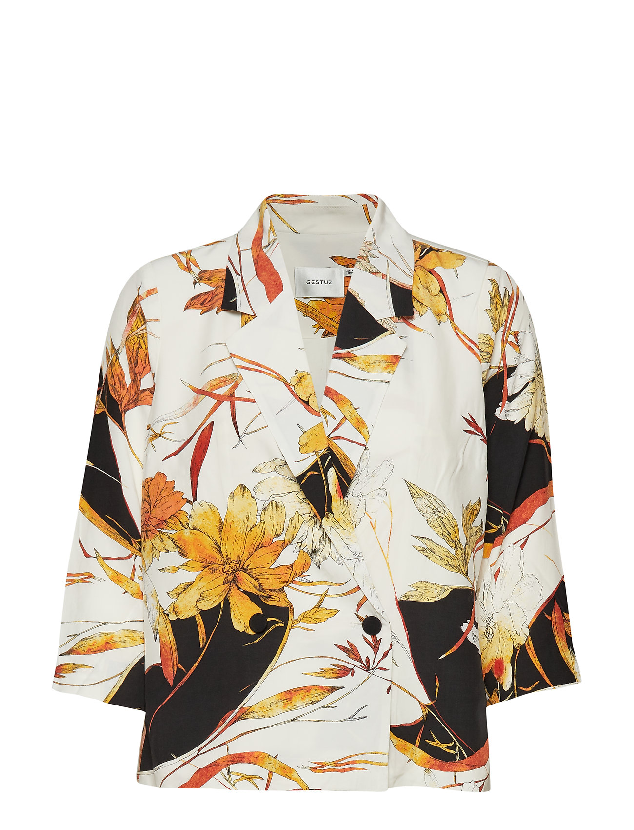 Gestuz AbelineGZ blazer HS19 - WHITE/ORANGE FLOWER