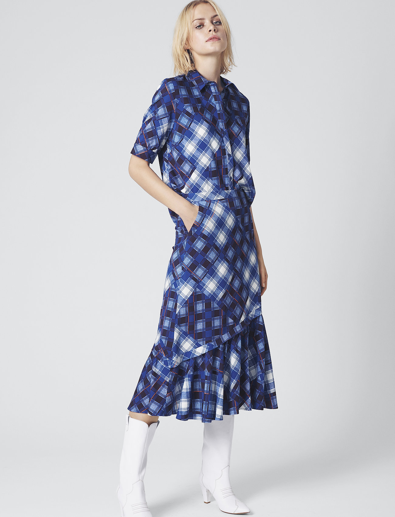 Gestuz - LuanneGZ skirt MA19 - midi - blue check
