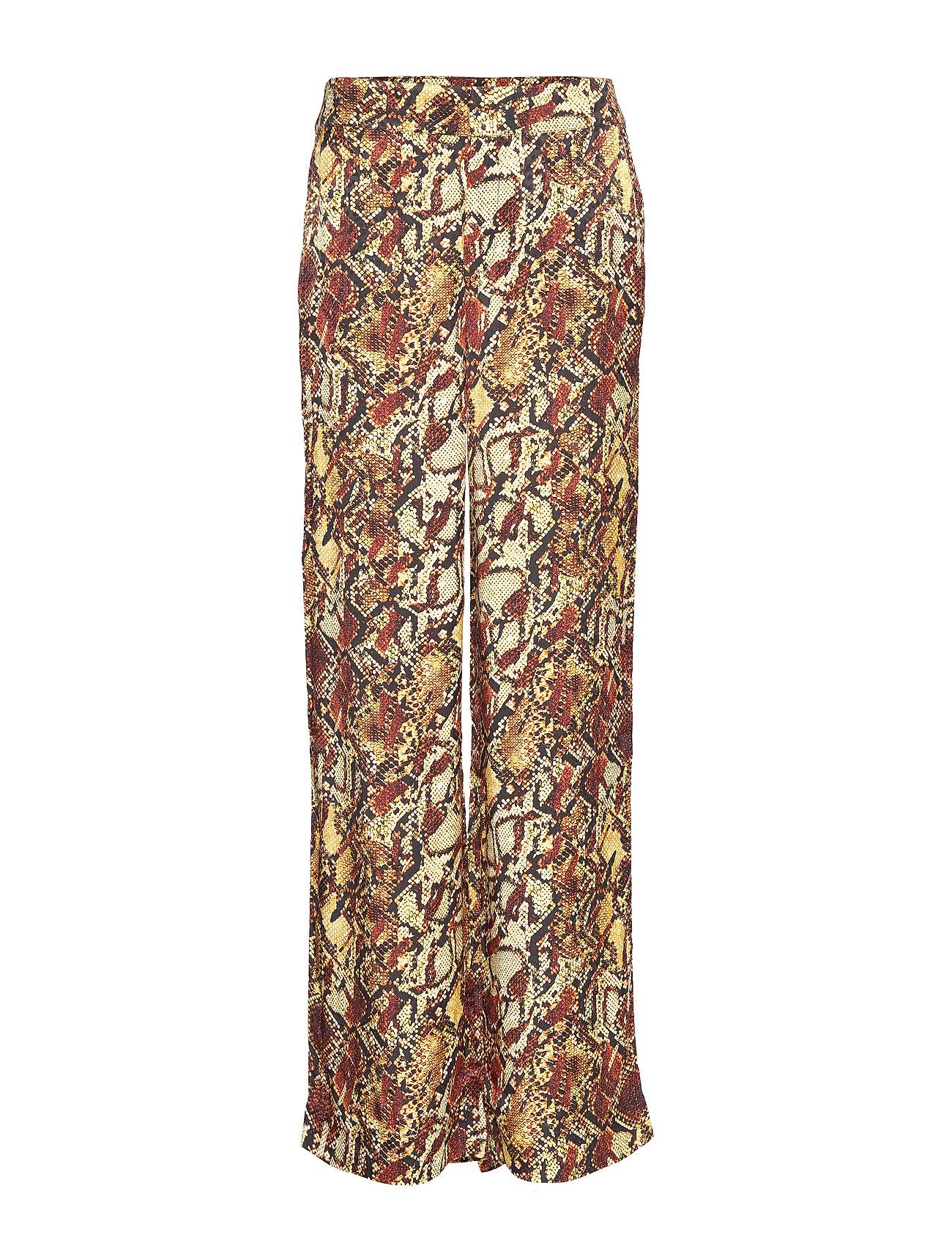 Gestuz ChellaGZ pants MA19 - RED/YELLOW SNAKE
