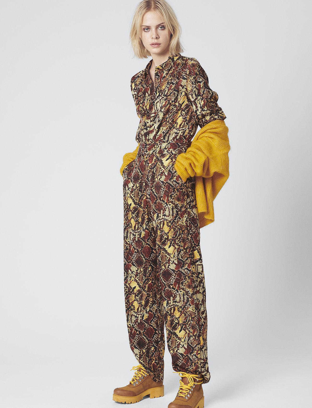 Gestuz - ChellaGZ pants MA19 - bukser med brede ben - red/yellow snake - 0