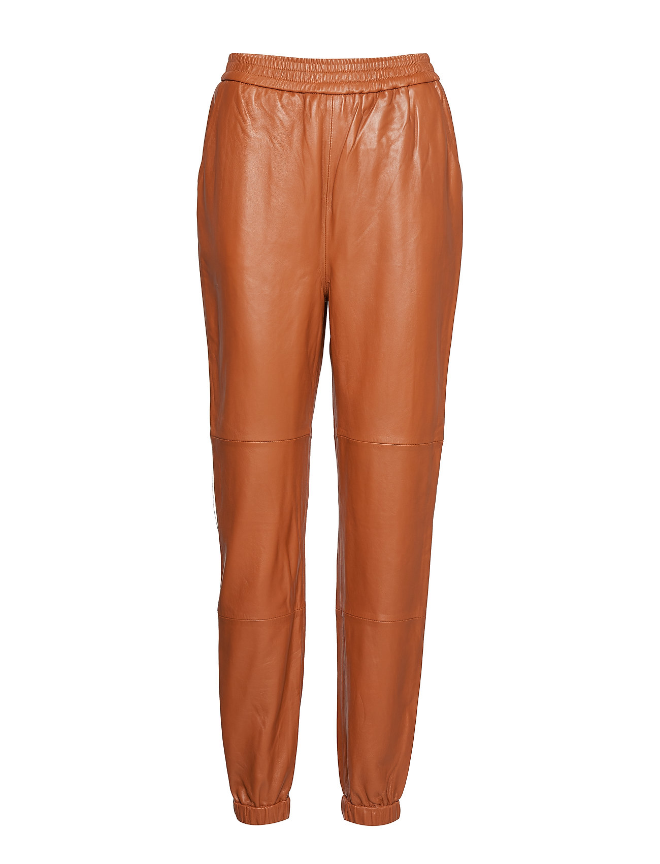Image of Vanagz Pants Ma19 Leather Leggings/Bukser Orange GESTUZ (3215647261)