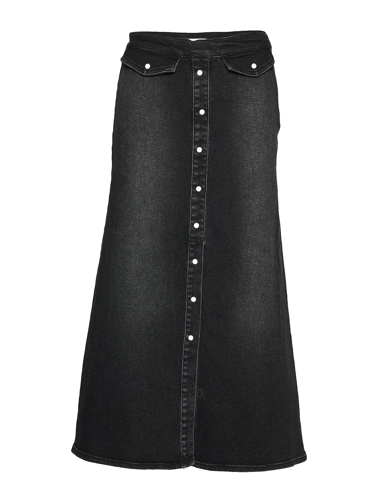 Gestuz AstridGZ long skirt - WASHED BLACK