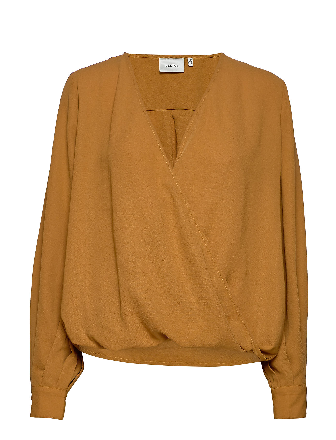 Gestuz CeniaGZ wrap blouse SO20 - BONE BROWN