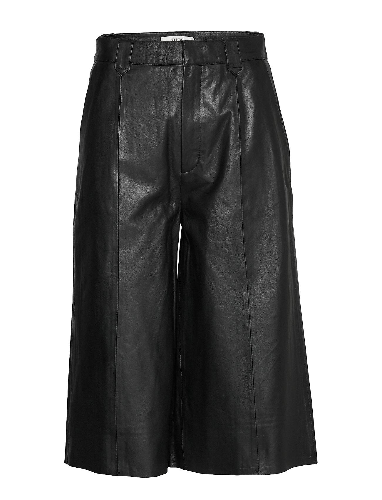 Image of Surigz Shorts Ms20 Leather Leggings/Bukser Sort Gestuz (3339884801)