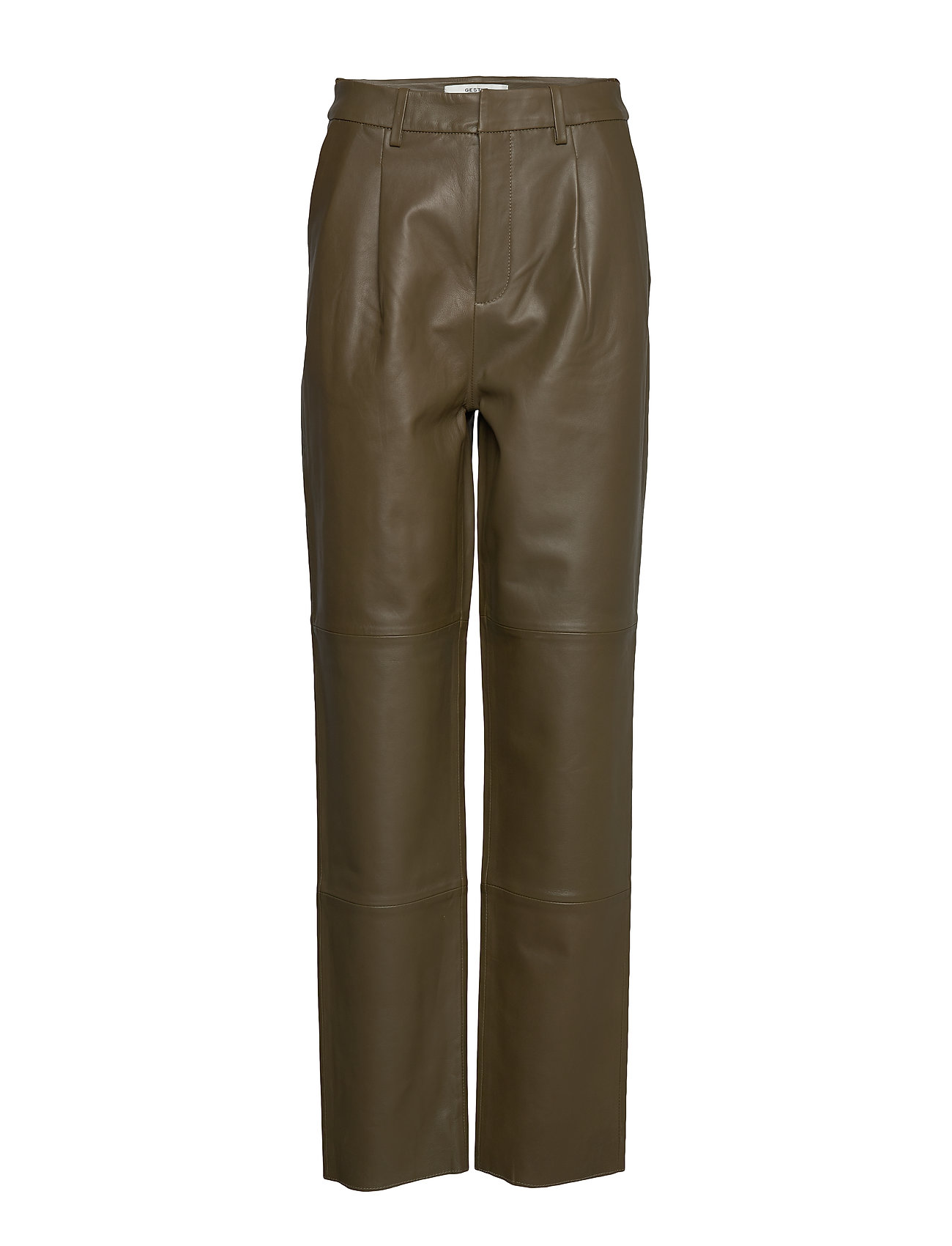 Image of Laliagz Pants Ms20 Leather Leggings/Bukser Grøn Gestuz (3339884785)