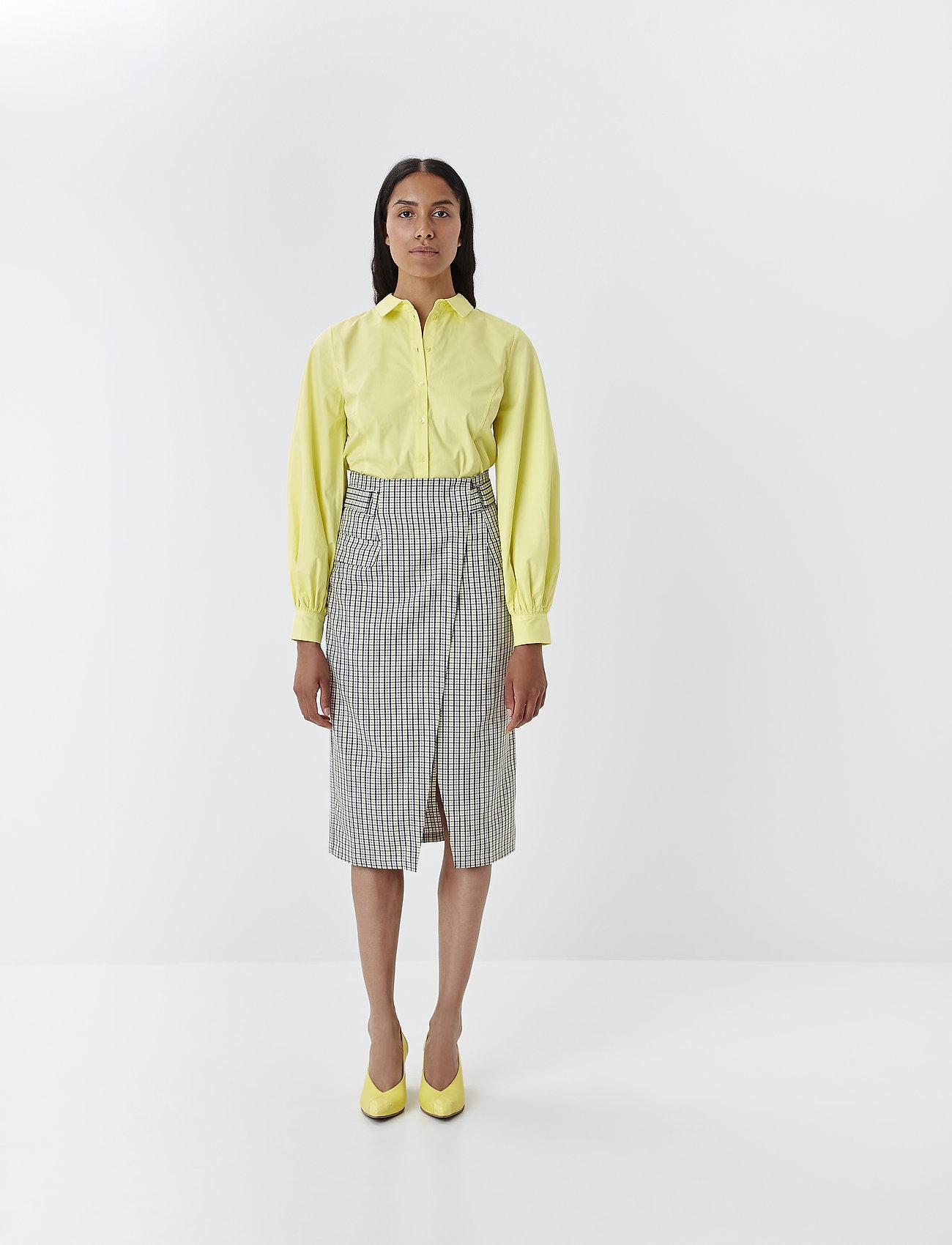 Gestuz - ElionaGZ skirt MS20 - midi - lime light check - 0
