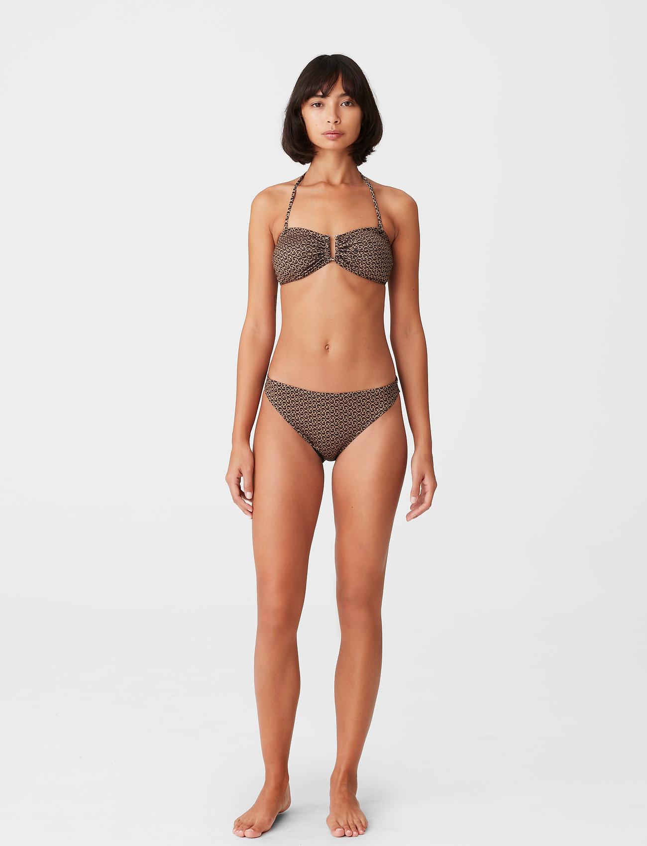 Gestuz - CanaGZ bikini top - bikini overdele - brown logo - 0