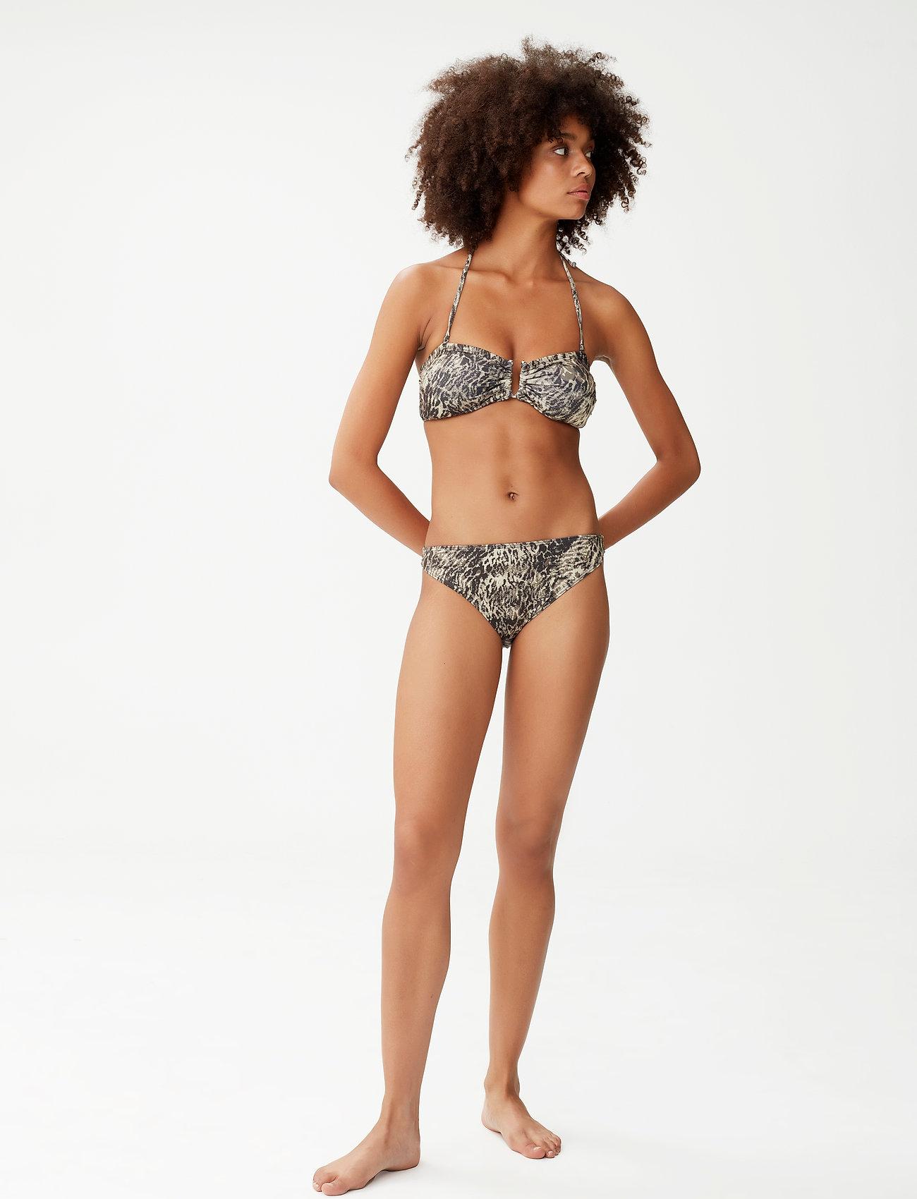 Gestuz - CanaGZ bikini top - bikini overdele - yellow leo - 0