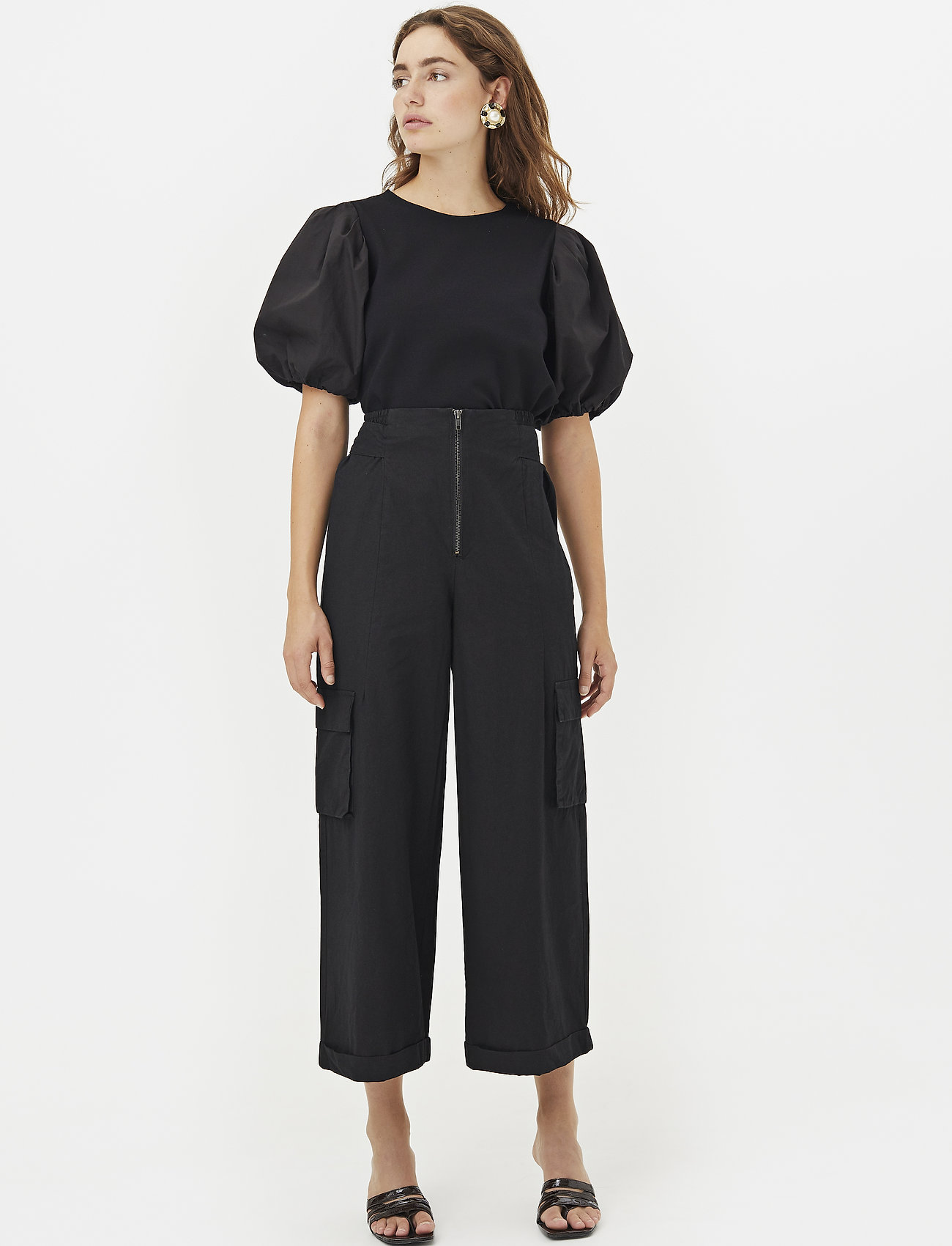 Gestuz - ImaGZ blouse HS20 - short-sleeved blouses - black - 0