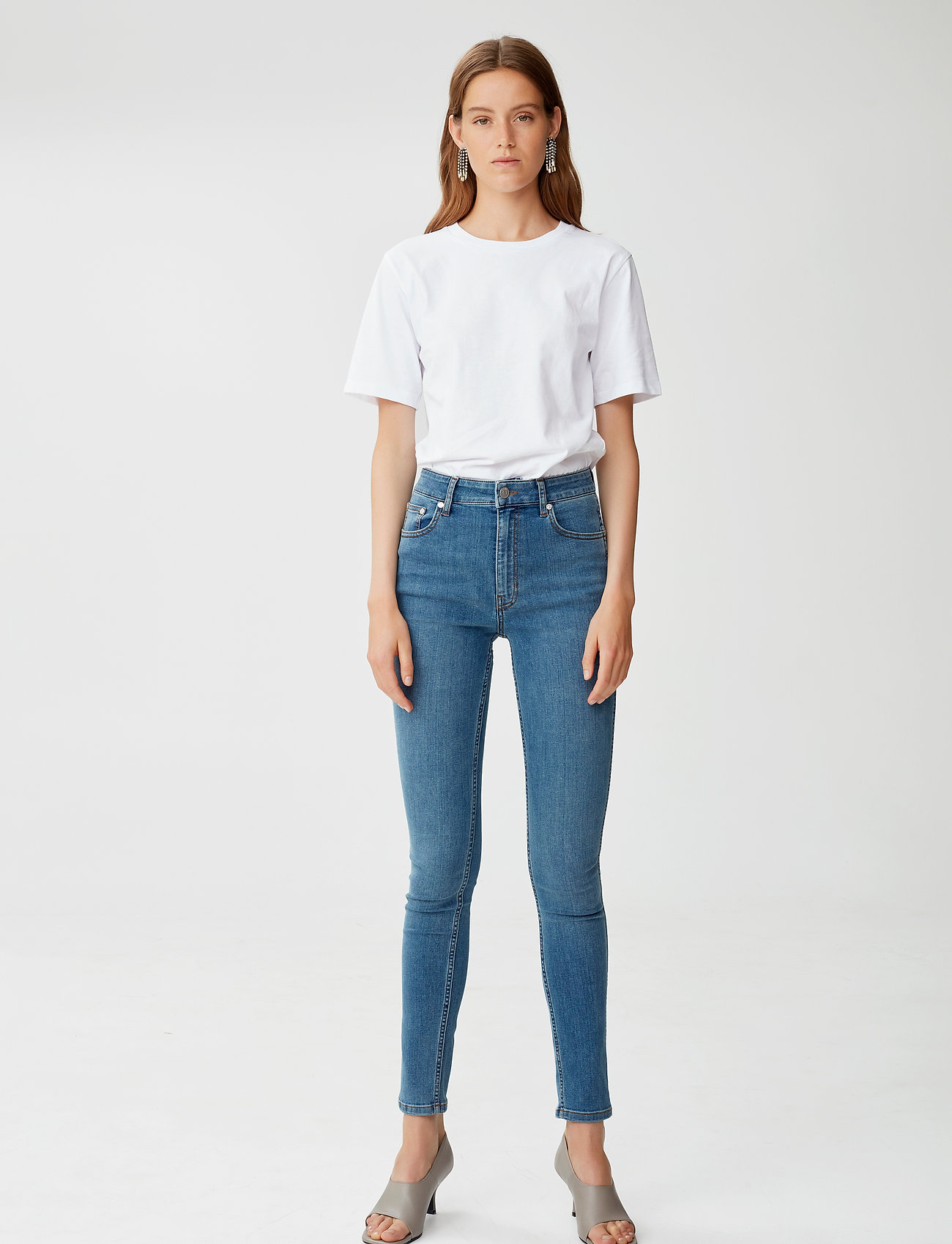 Gestuz - EmilyGZ HW skinny jeans NOOS - skinny jeans - l.a. blue - 0