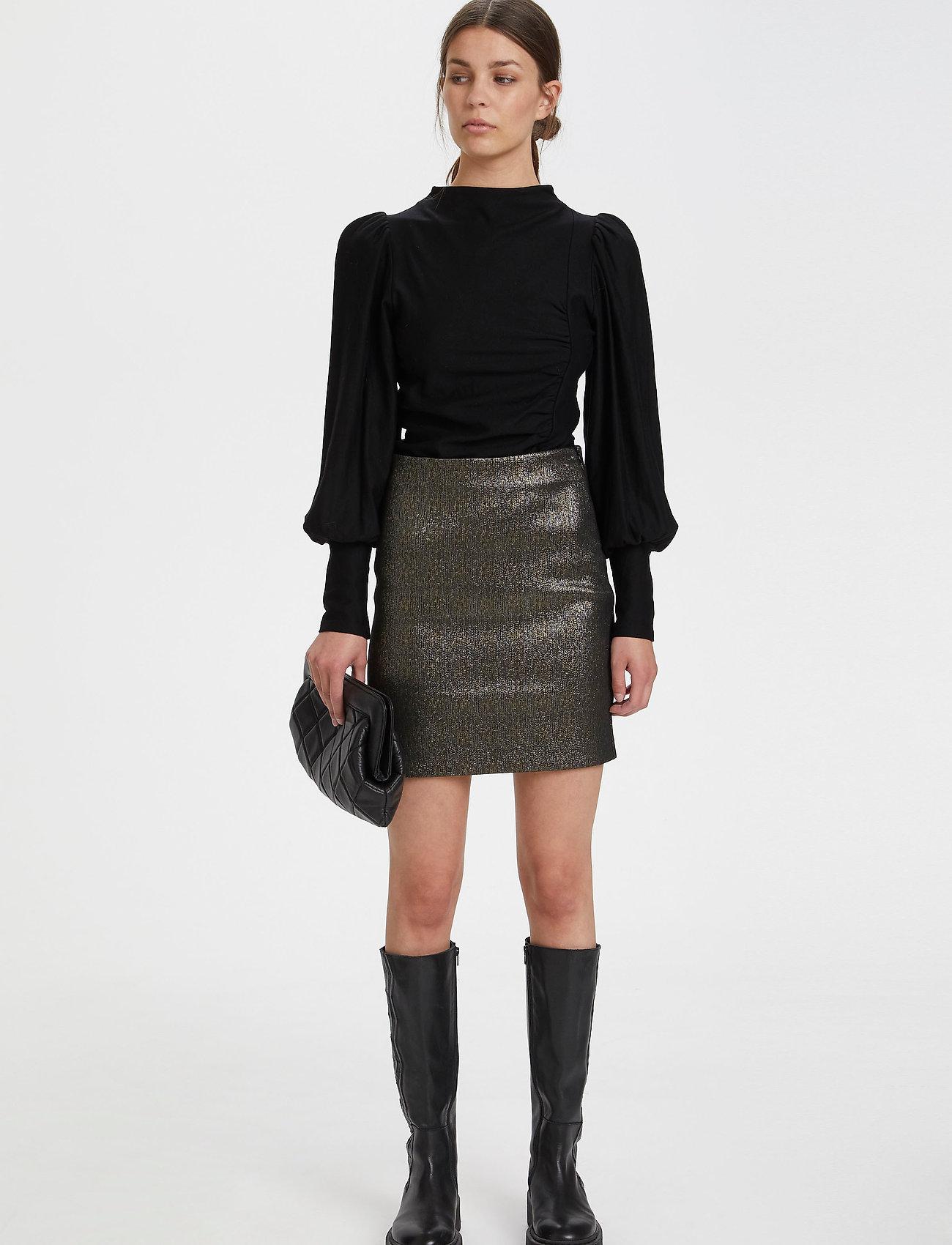 Gestuz - RifaGZ puff blouse - langærmede bluser - black - 0
