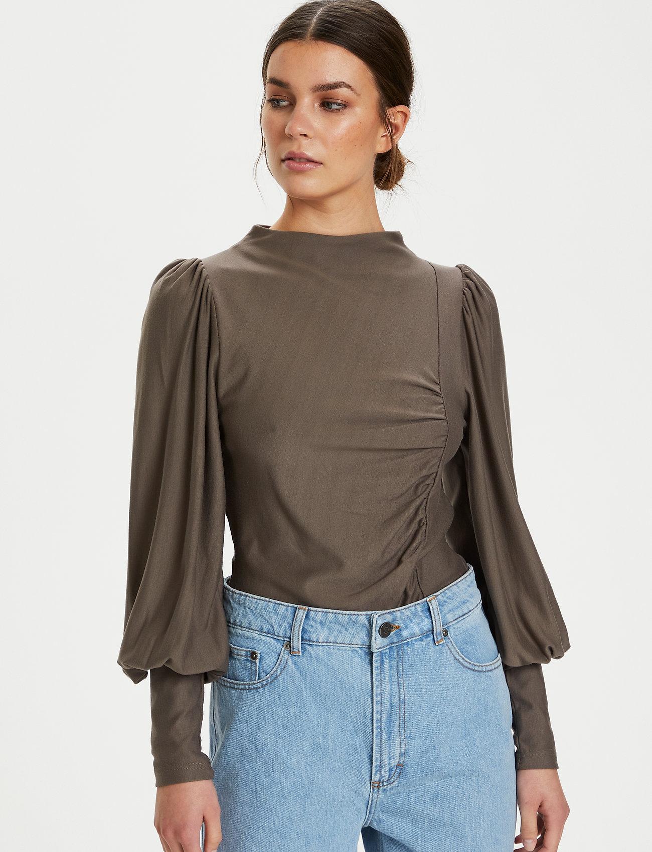 Gestuz - RifaGZ puff blouse - langærmede bluser - earth - 0